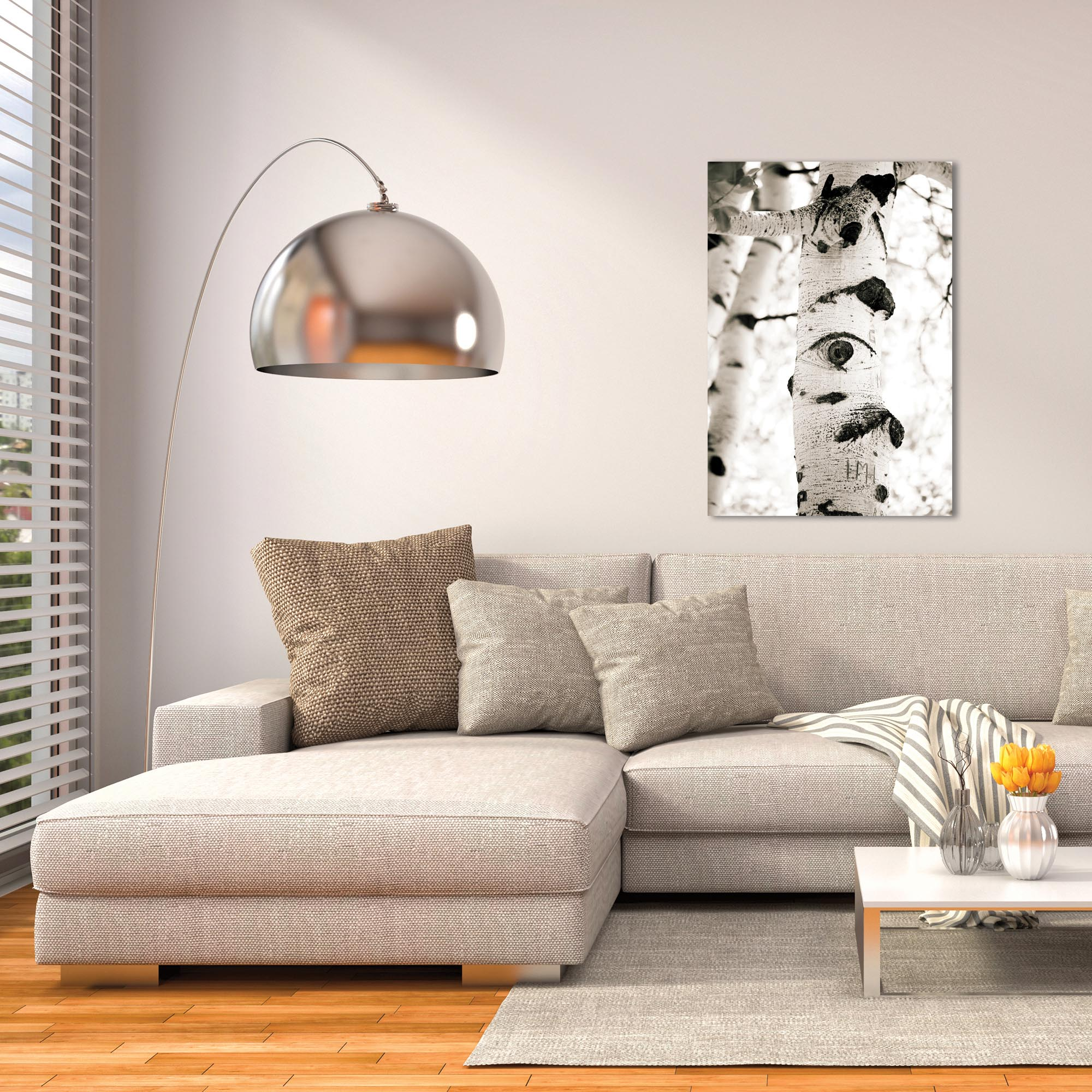 Landscape Photography 'Aspen Eyes' - Nature Scene Art on Metal or Plexiglass - Lifestyle View