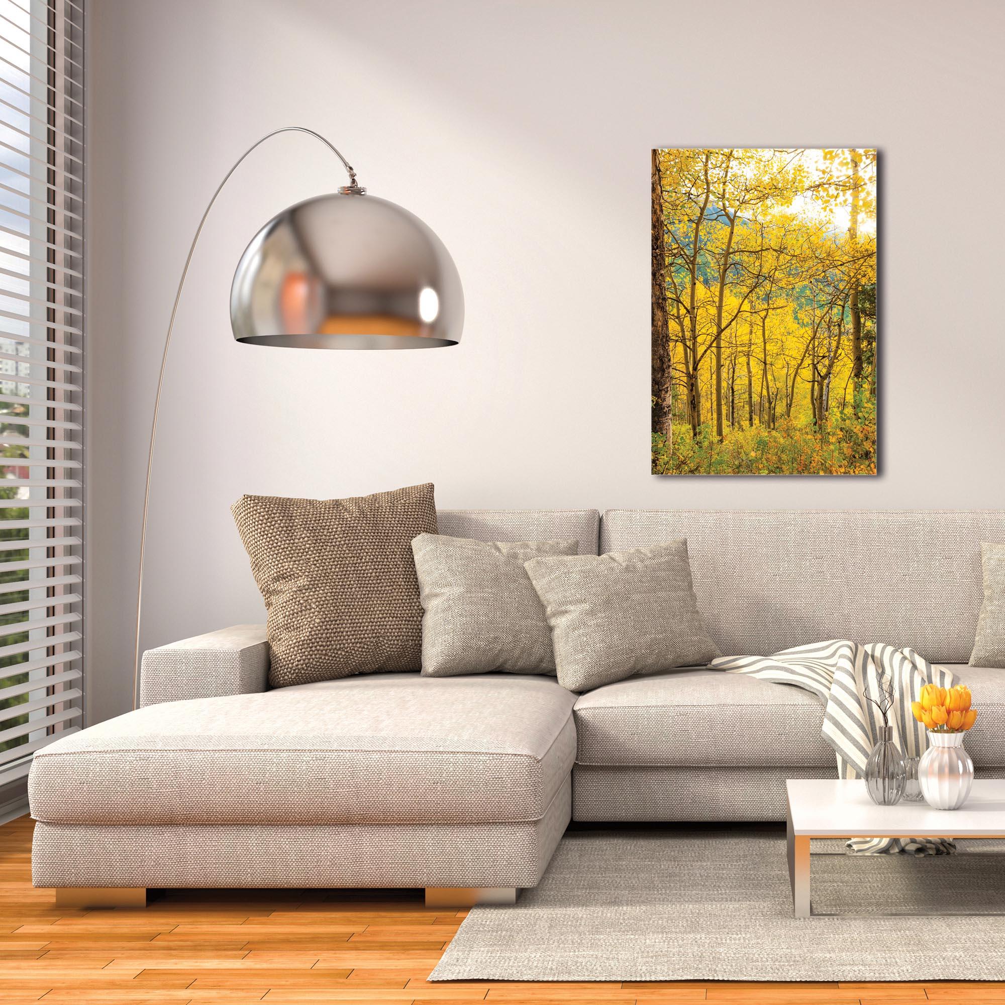 Landscape Photography 'Aspen Path' - Autumn Nature Art on Metal or Plexiglass - Image 3