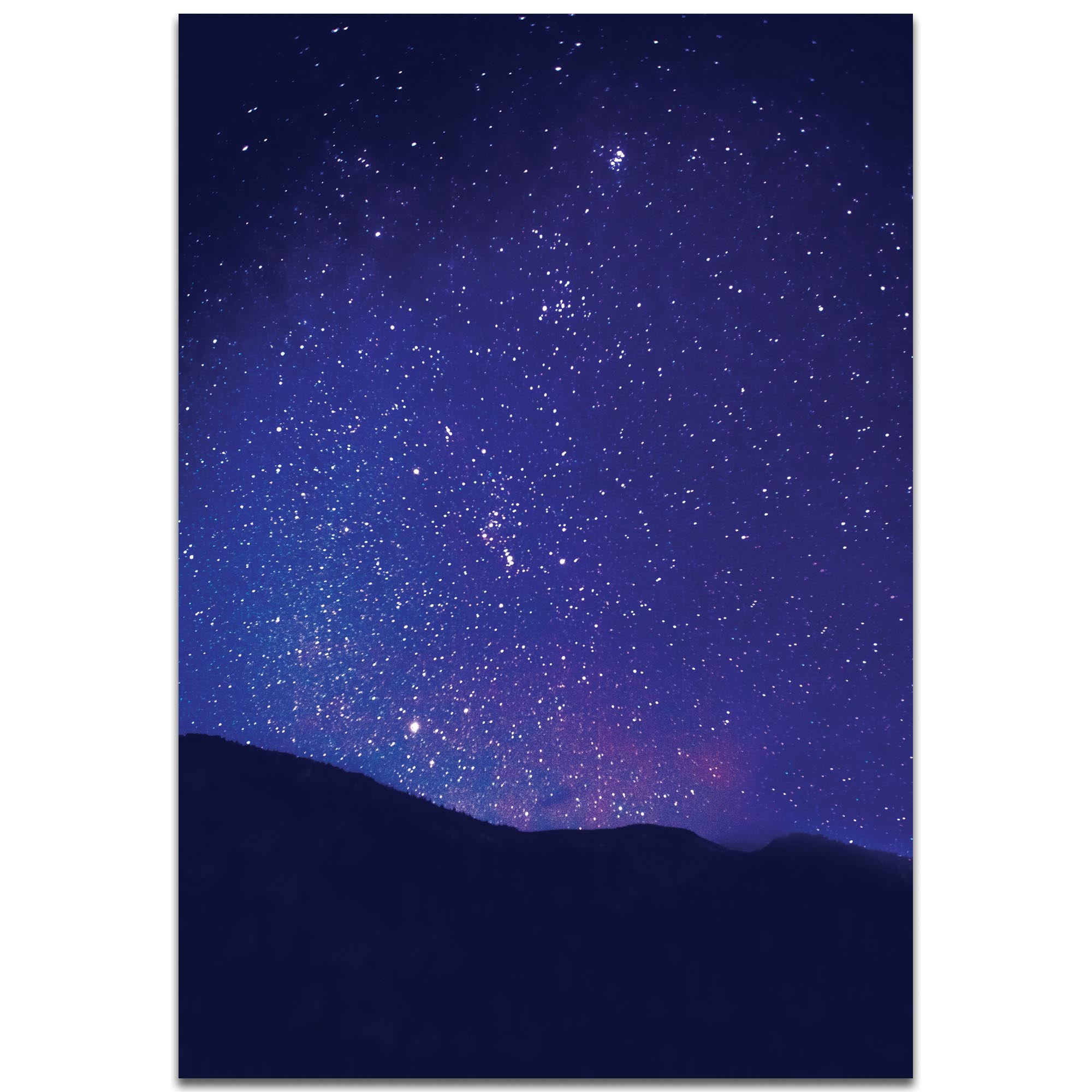 Nature Photography 'Satin Sky' - Night Sky Art on Metal or Plexiglass