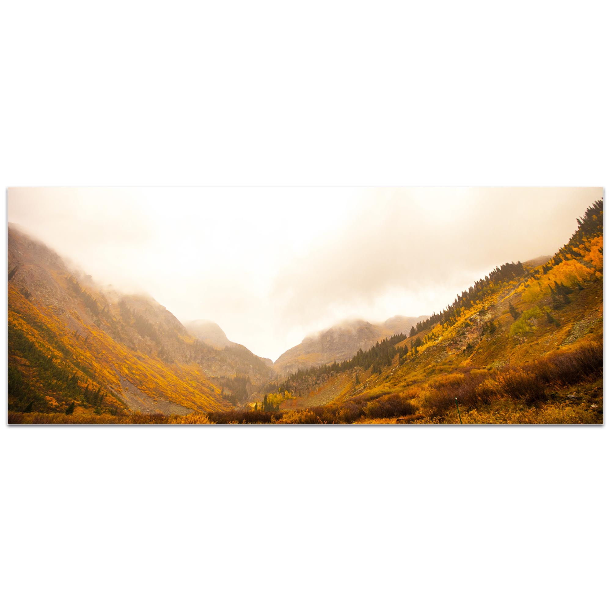 Landscape Photography 'Fog in the Canyon' - Autumn Nature Art on Metal or Plexiglass - Image 2