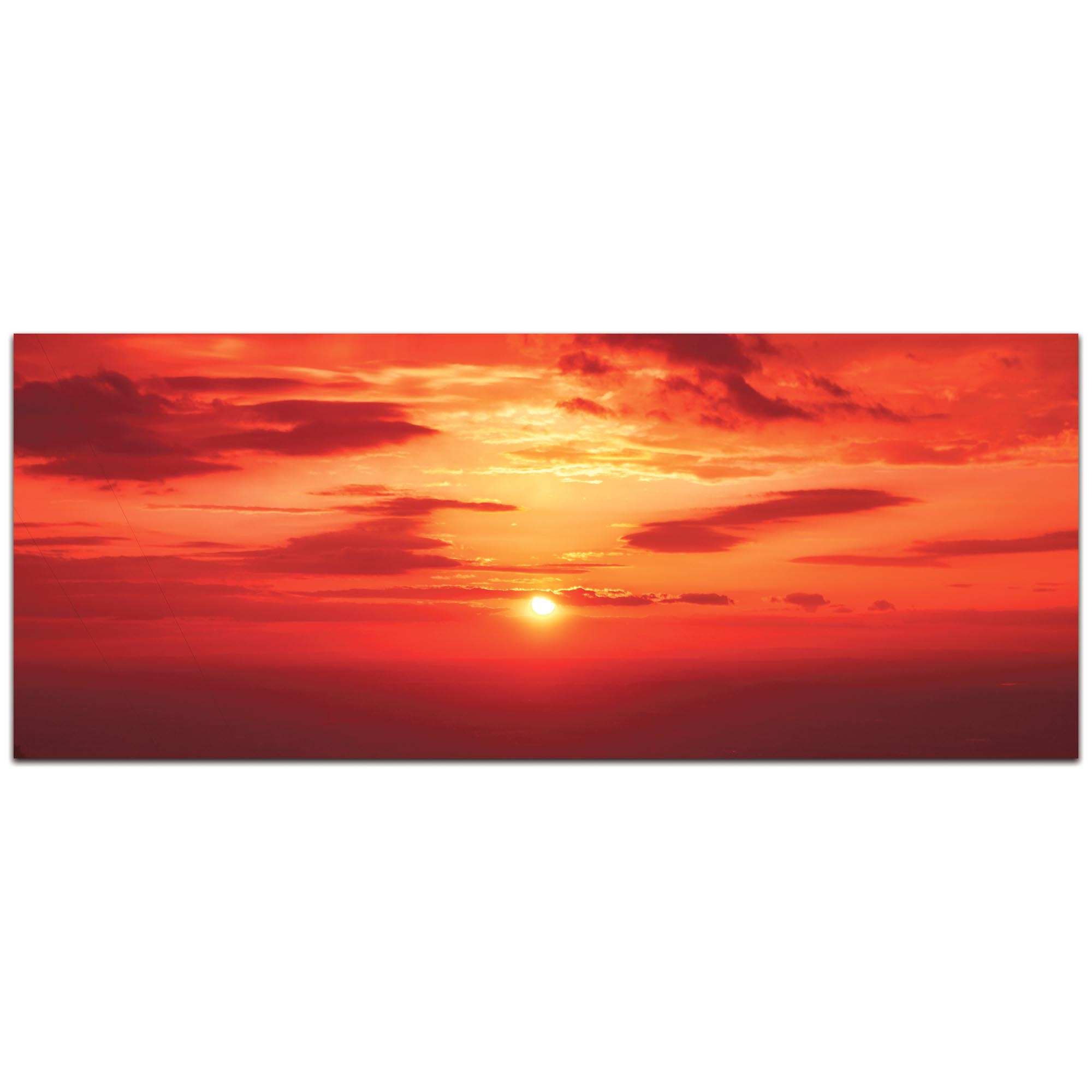 Landscape Photography 'Skies of Flame' - Sunset Art on Metal or Plexiglass