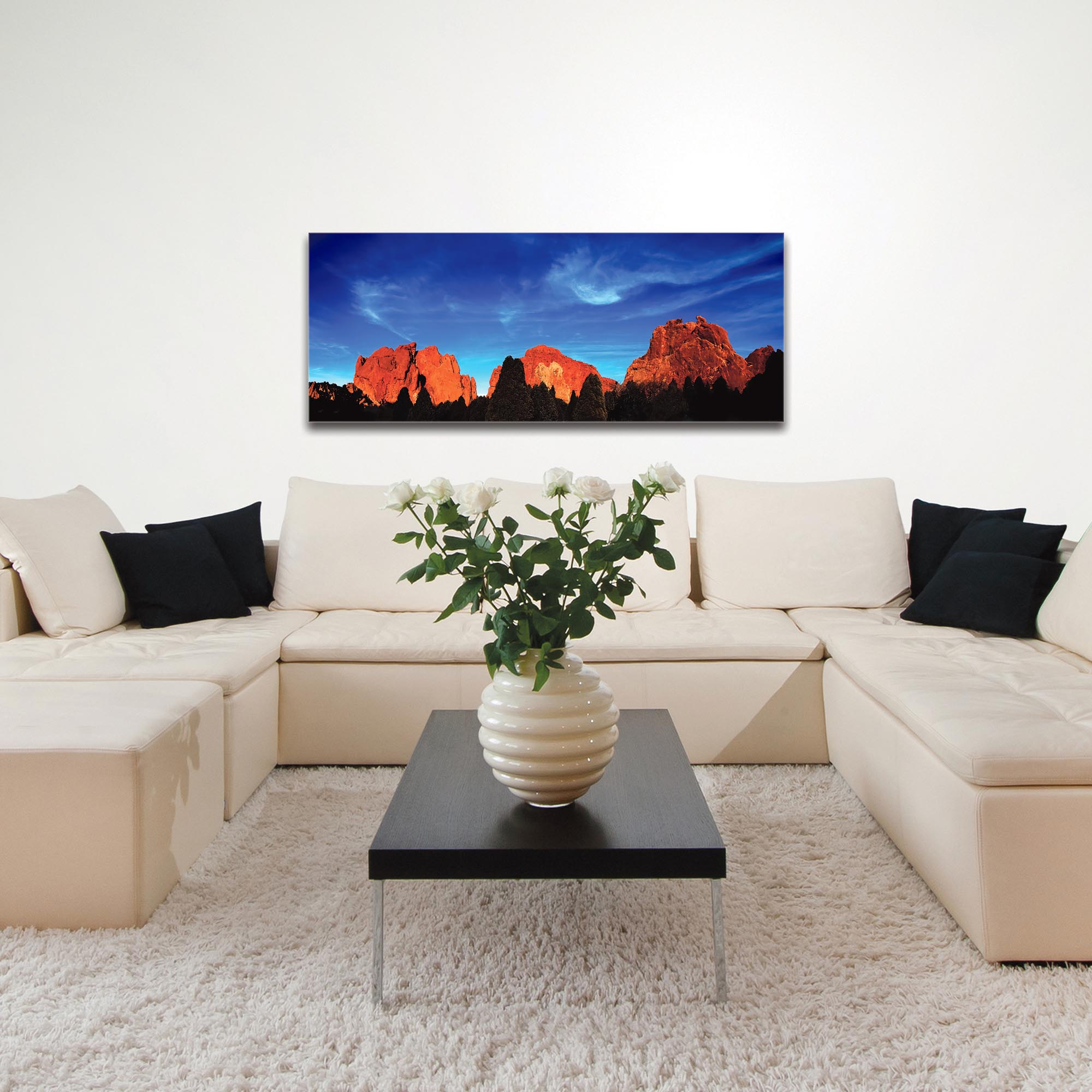 Landscape Photography 'Rocky Towers' - Desert Mountains Art on Metal or Plexiglass - Image 3