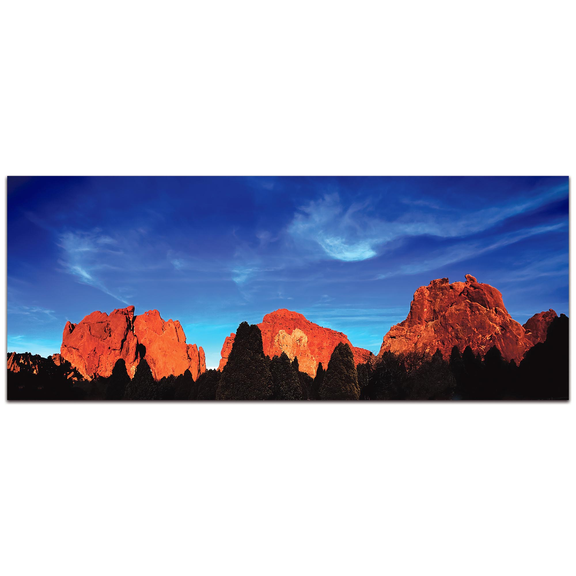 Landscape Photography 'Rocky Towers' - Desert Mountains Art on Metal or Plexiglass