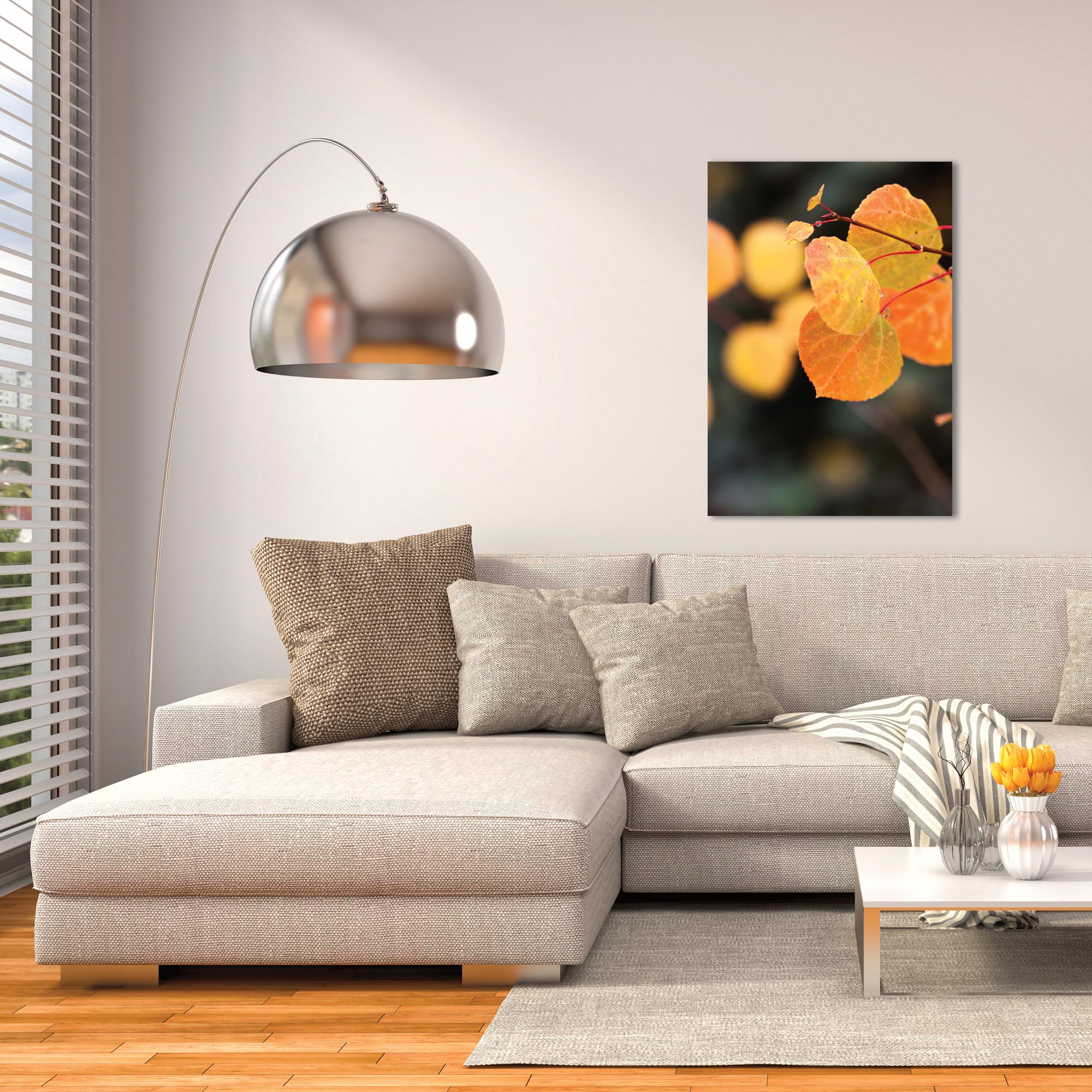 Nature Photography 'Changing Leaves' - Autumn Leaves Art on Metal or Plexiglass - Lifestyle View