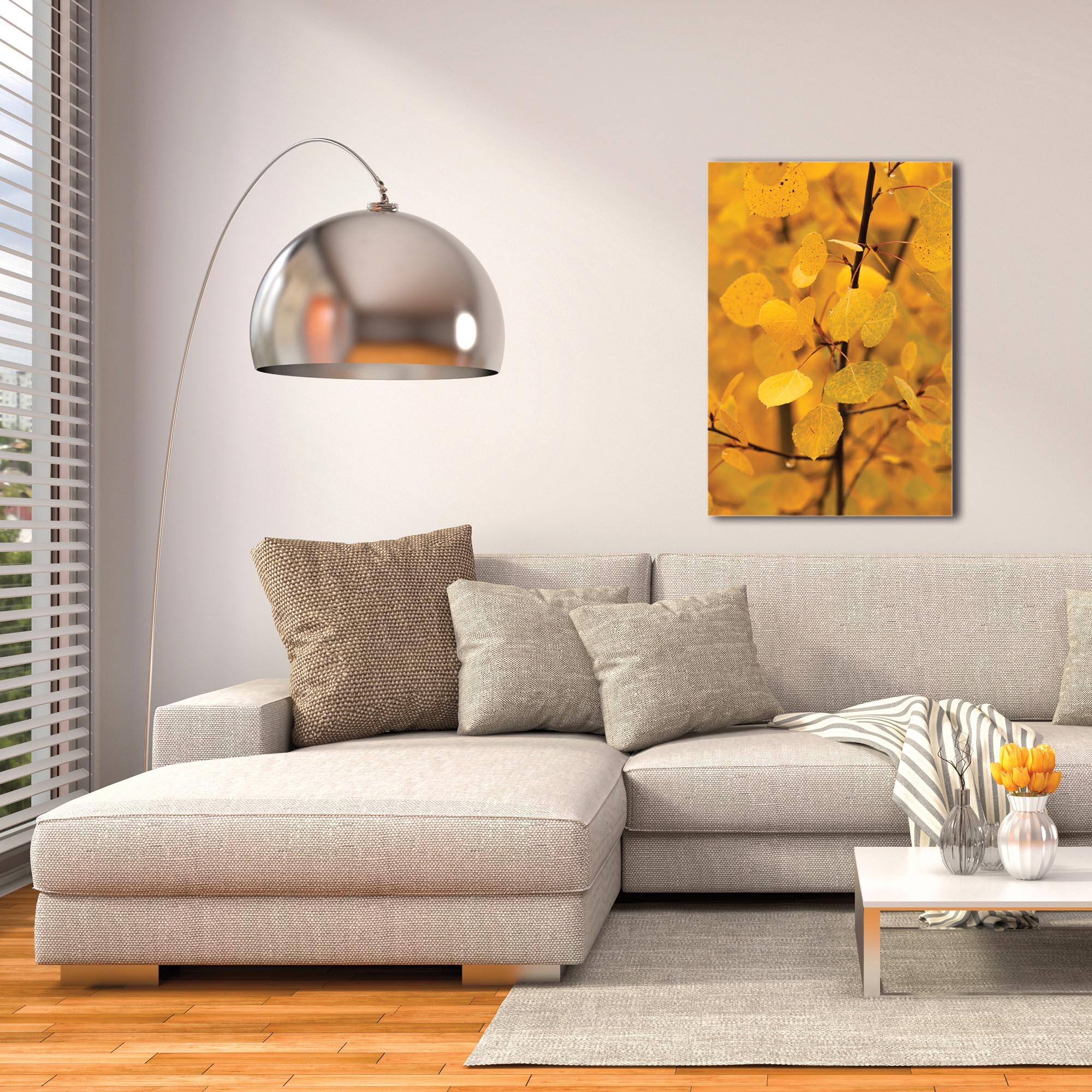Nature Photography 'Turn to Gold' - Autumn Leaves Art on Metal or Plexiglass - Image 3