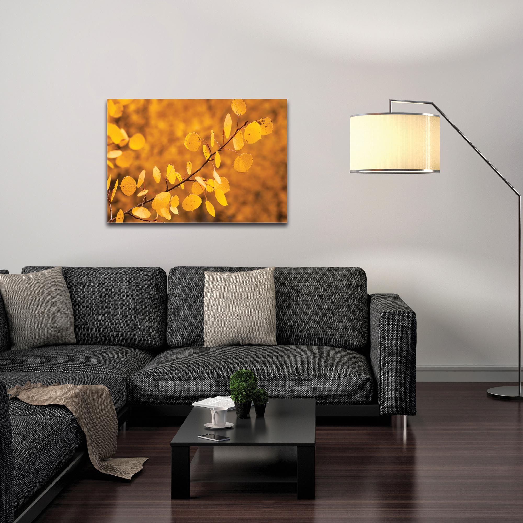 Nature Photography 'Yellow Leaves' - Autumn Leaves Art on Metal or Plexiglass - Image 3