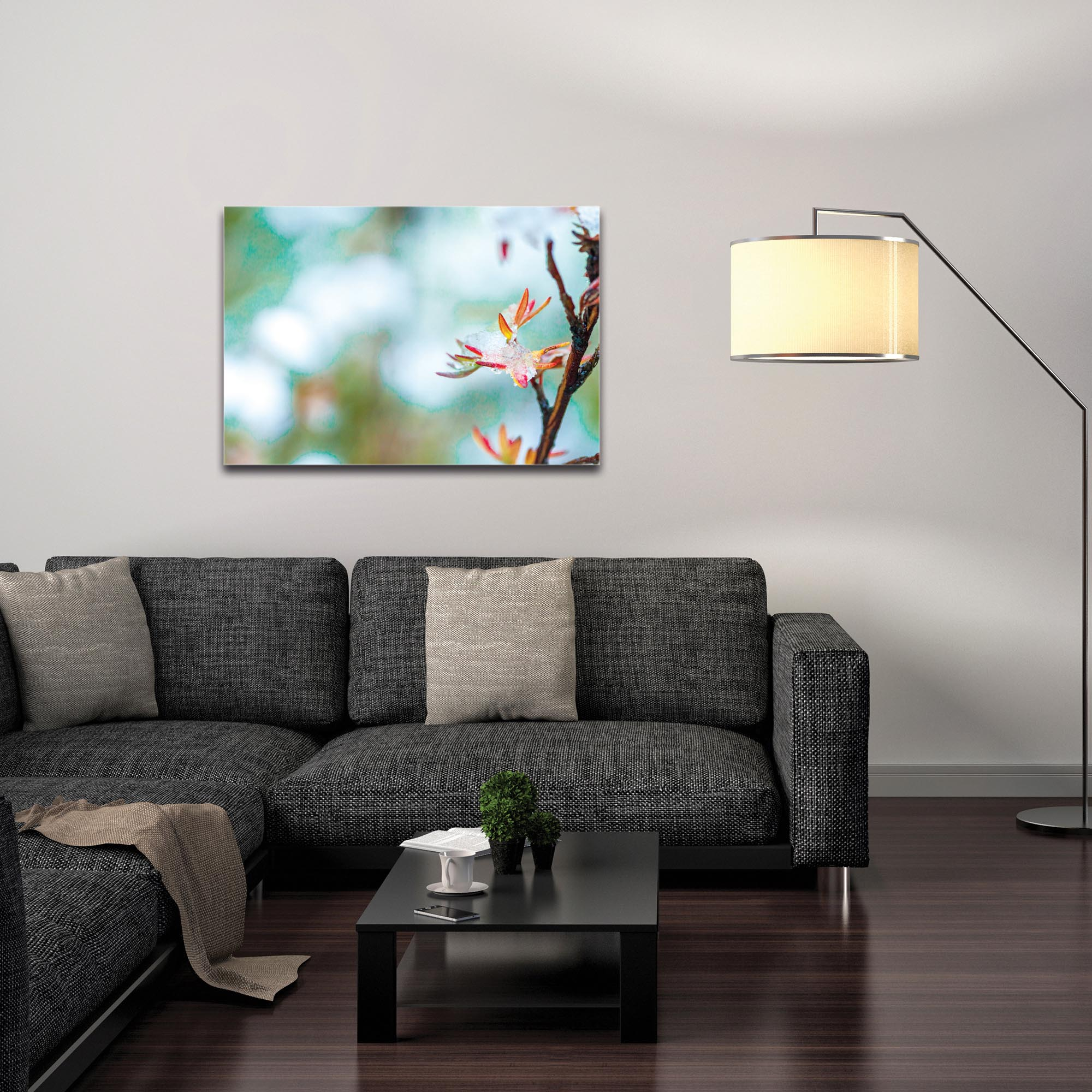 Nature Photography 'Icy Autumn v2' - Winter Blossom Art on Metal or Plexiglass - Image 3