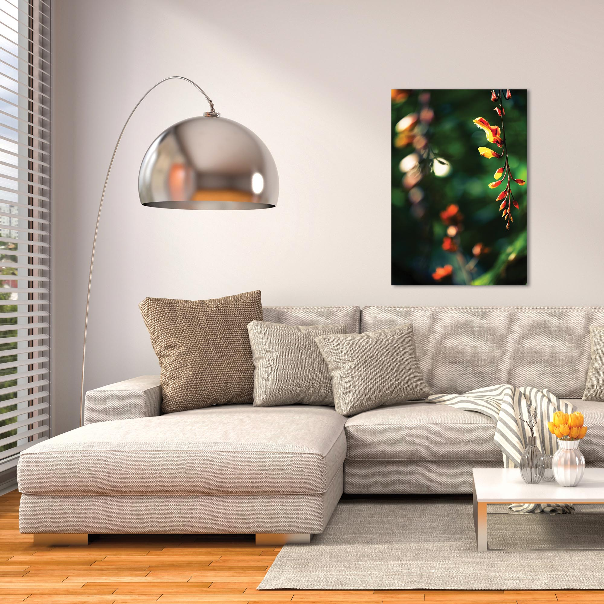 Nature Photography 'Hanging Flowers' - Flower Blossom Art on Metal or Plexiglass - Lifestyle View