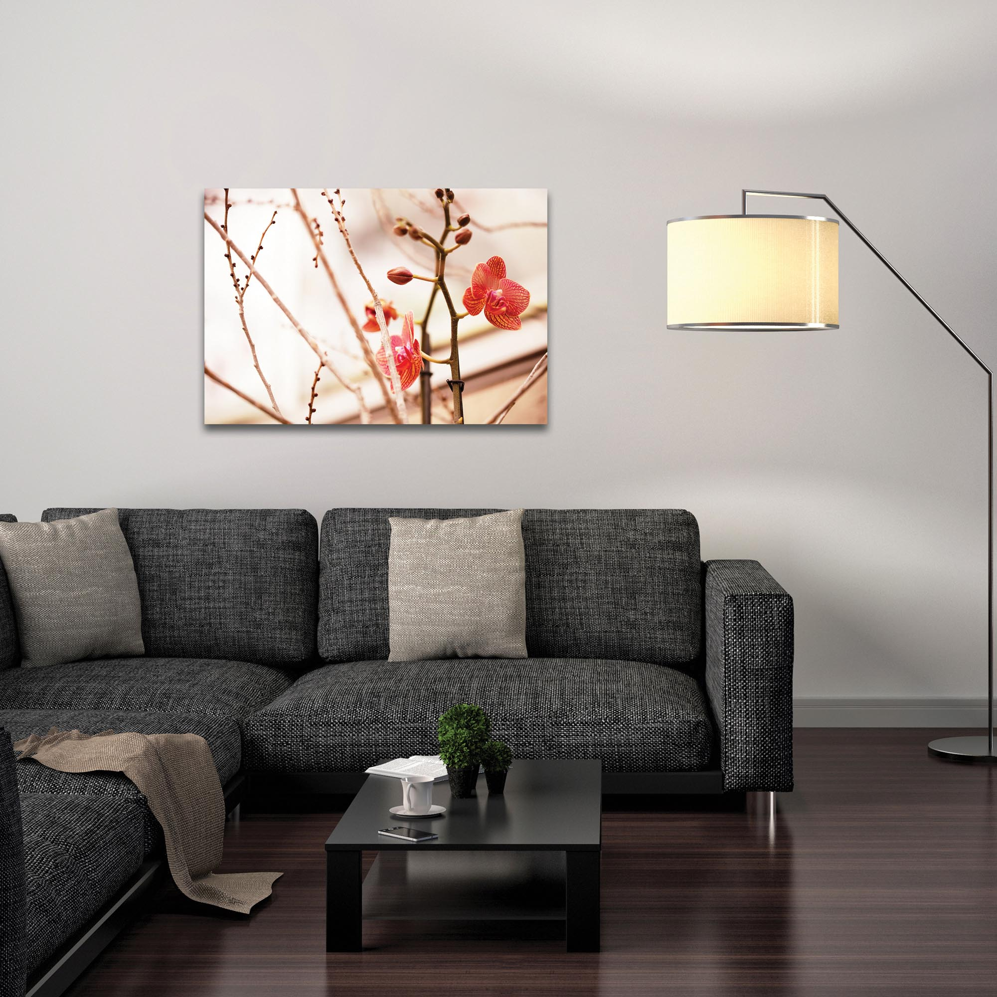 Nature Photography 'First Bloom' - Flower Blossom Art on Metal or Plexiglass - Lifestyle View