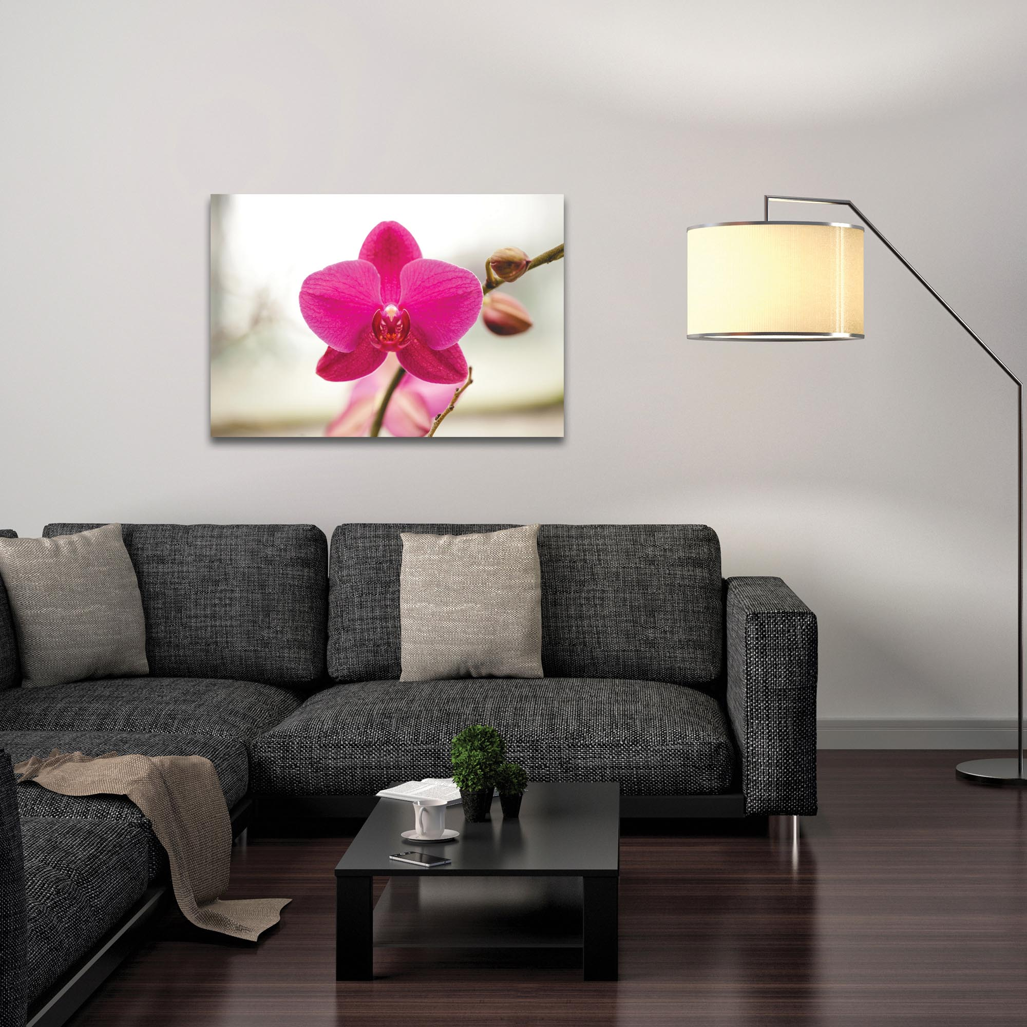 Nature Photography 'Magenta Bloom' - Flower Blossom Art on Metal or Plexiglass - Lifestyle View