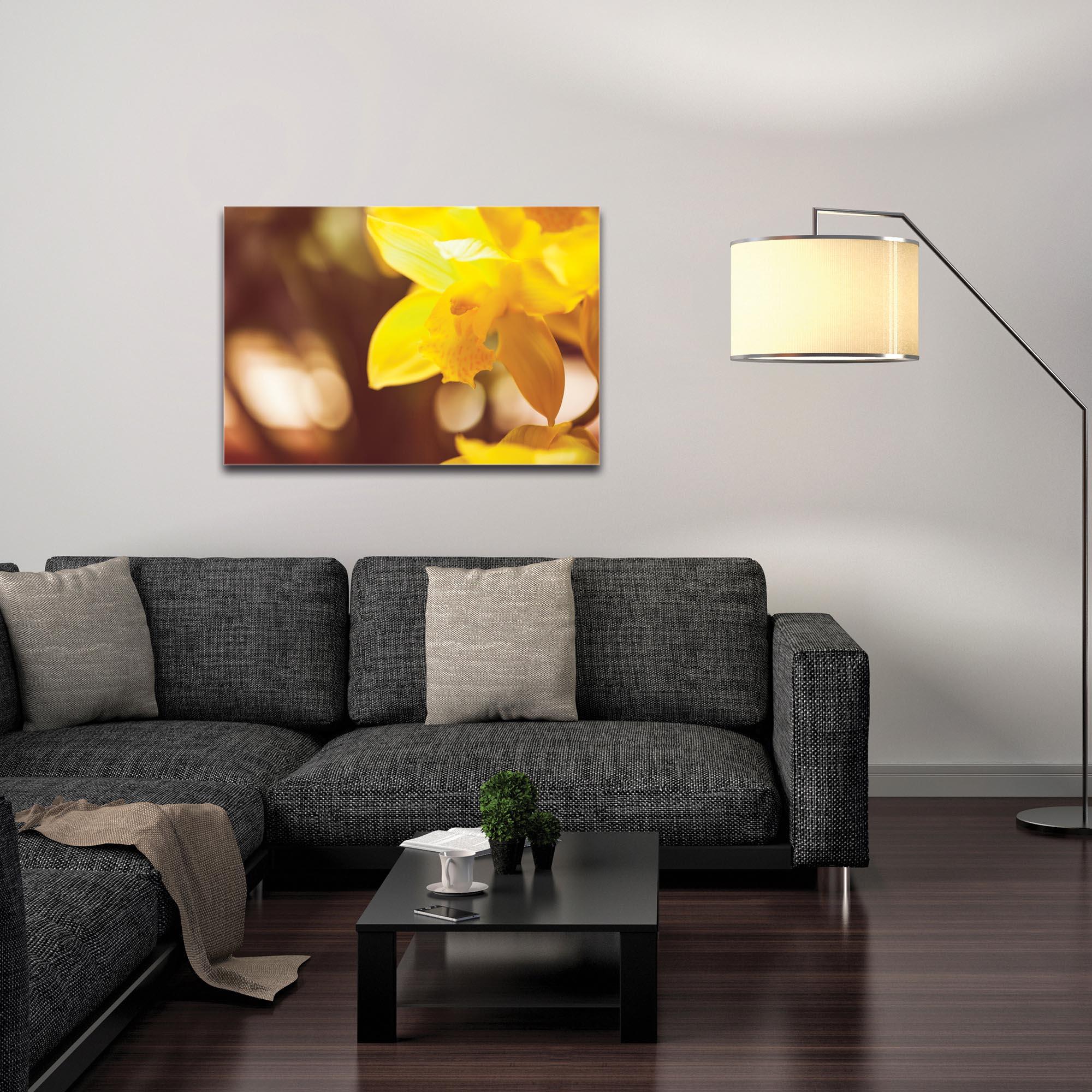 Nature Photography 'Golden Bloom' - Flower Blossom Art on Metal or Plexiglass - Image 3