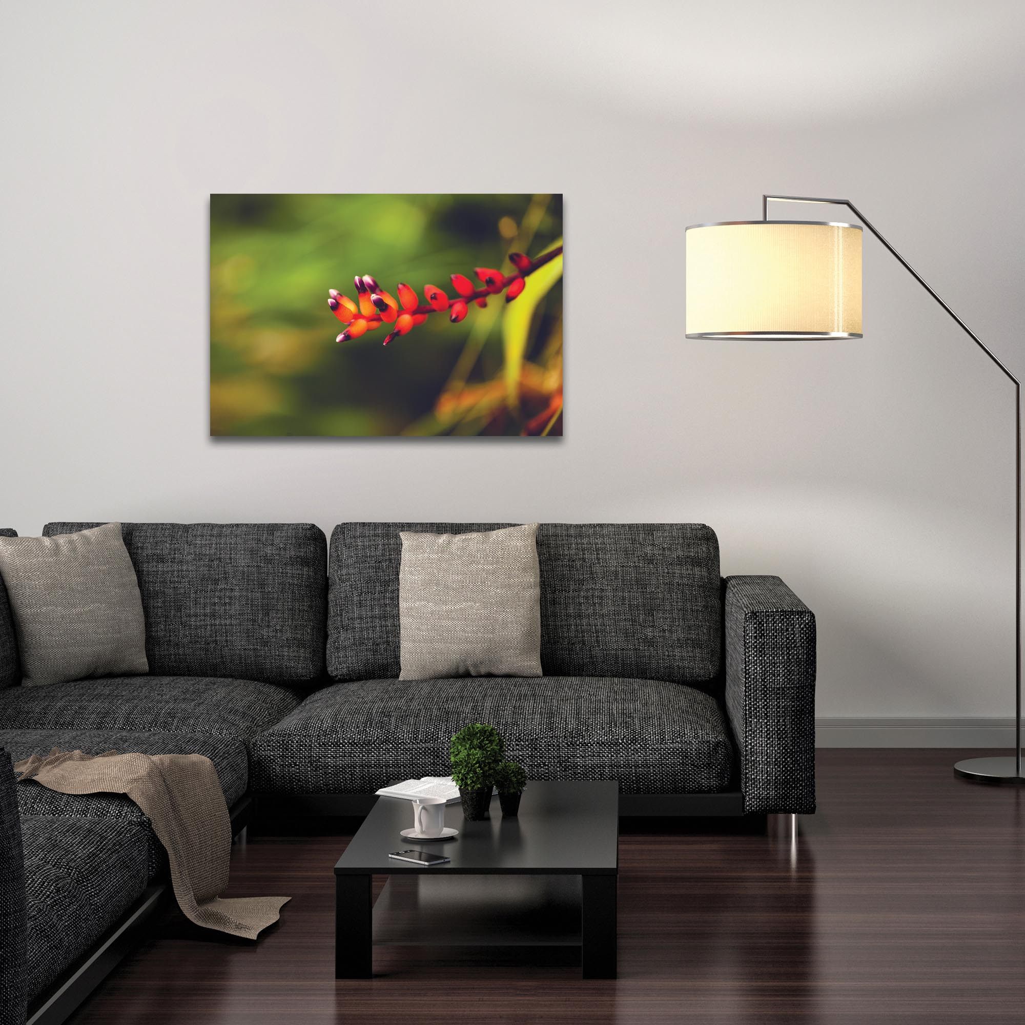 Nature Photography 'Ready to Bloom' - Flower Blossom Art on Metal or Plexiglass - Lifestyle View