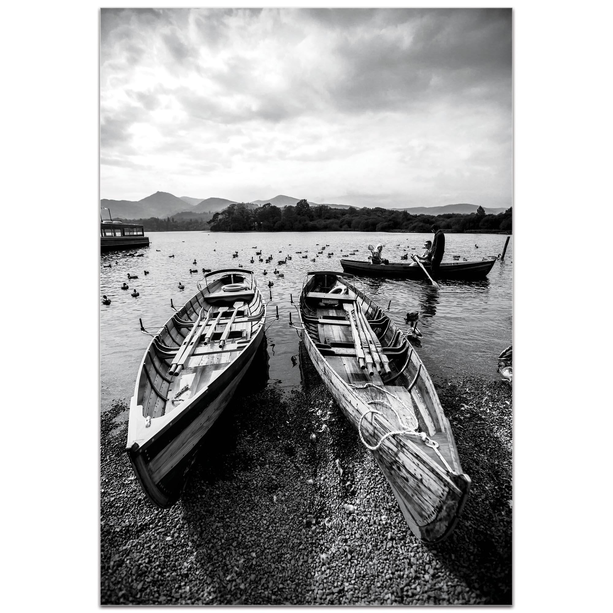 Black & White Photography 'Old Rowboats' - Coastal Art on Metal or Plexiglass - Image 2