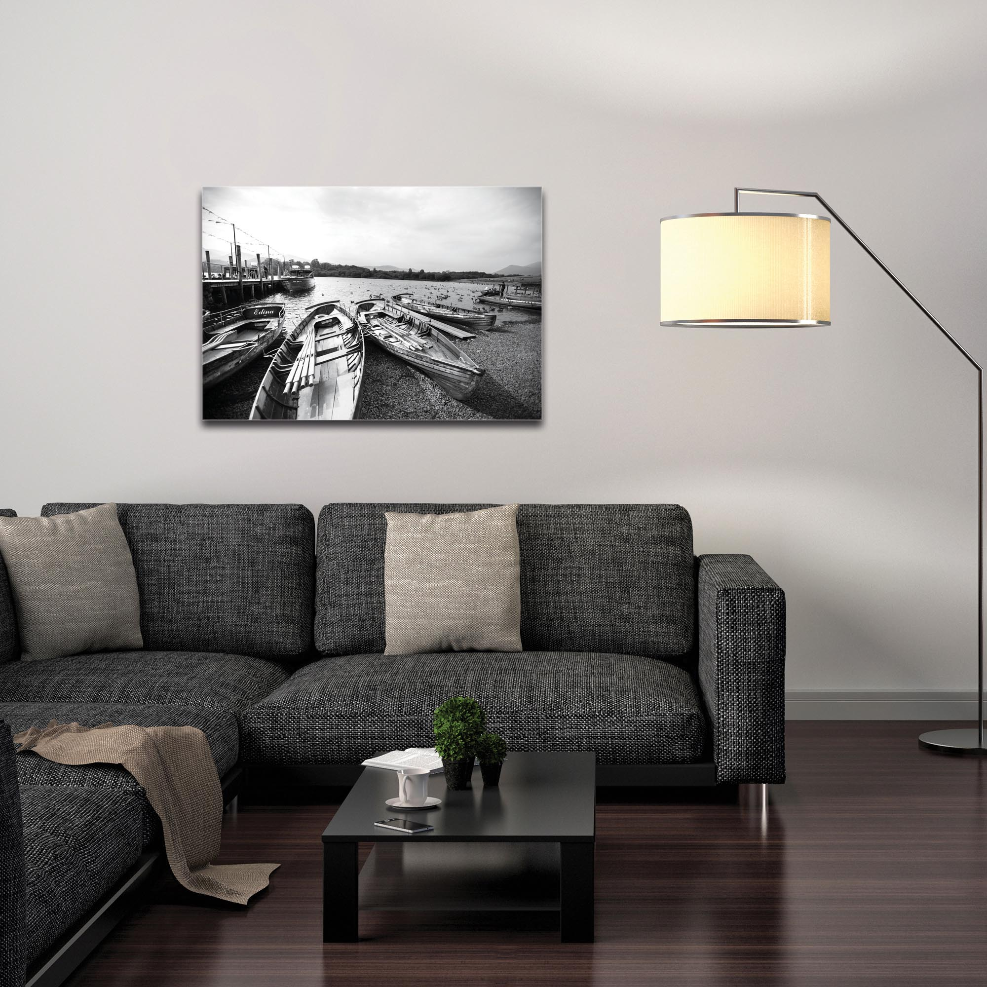 Black & White Photography 'Row of Rowers' - Coastal Art on Metal or Plexiglass - Image 3