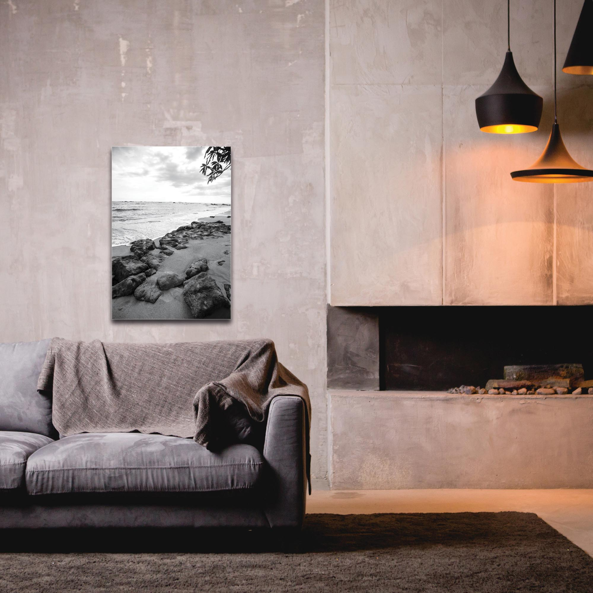 Black & White Photography 'The Coastline' - Coastal Art on Metal or Plexiglass - Image 3