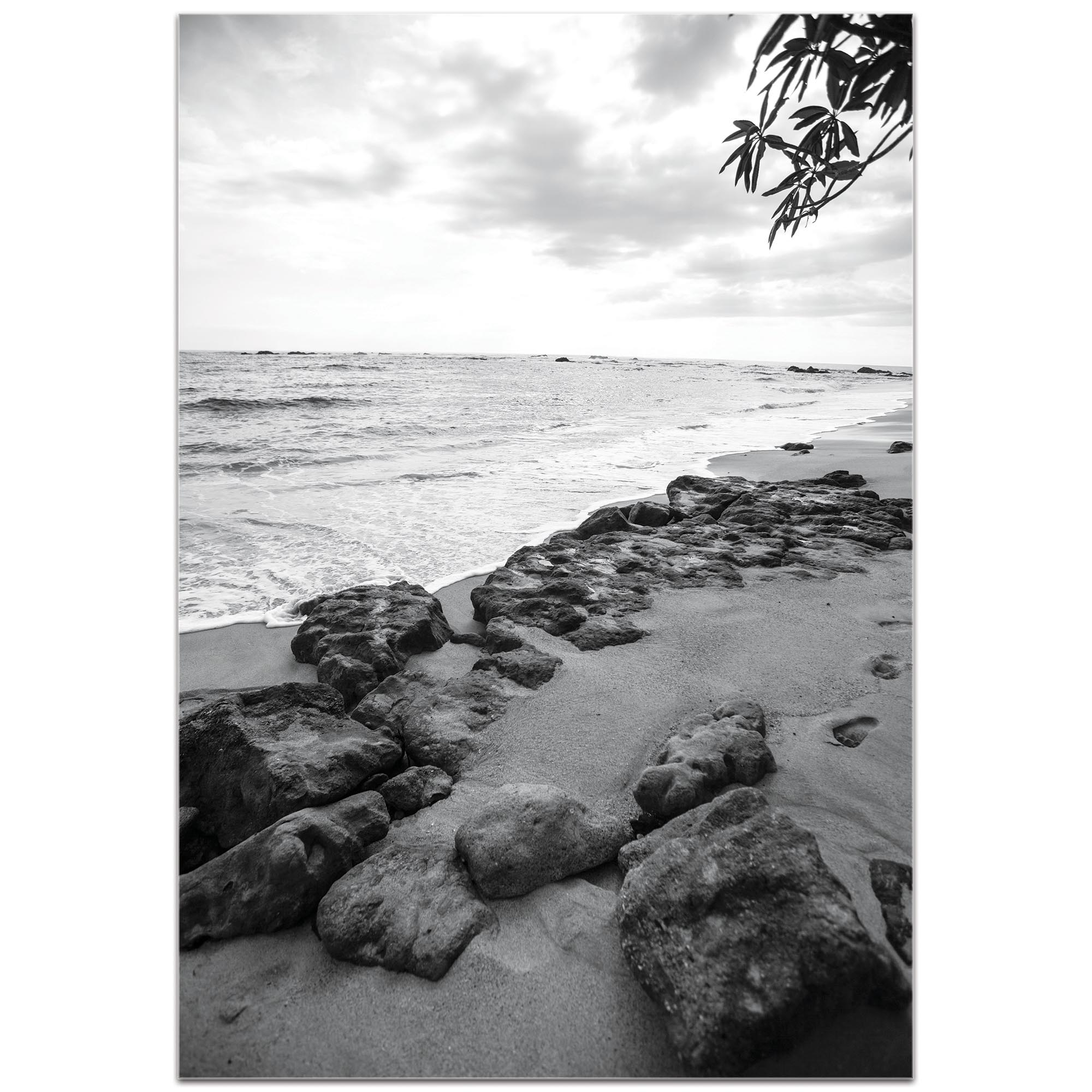 Black & White Photography 'The Coastline' - Coastal Art on Metal or Plexiglass - Image 2