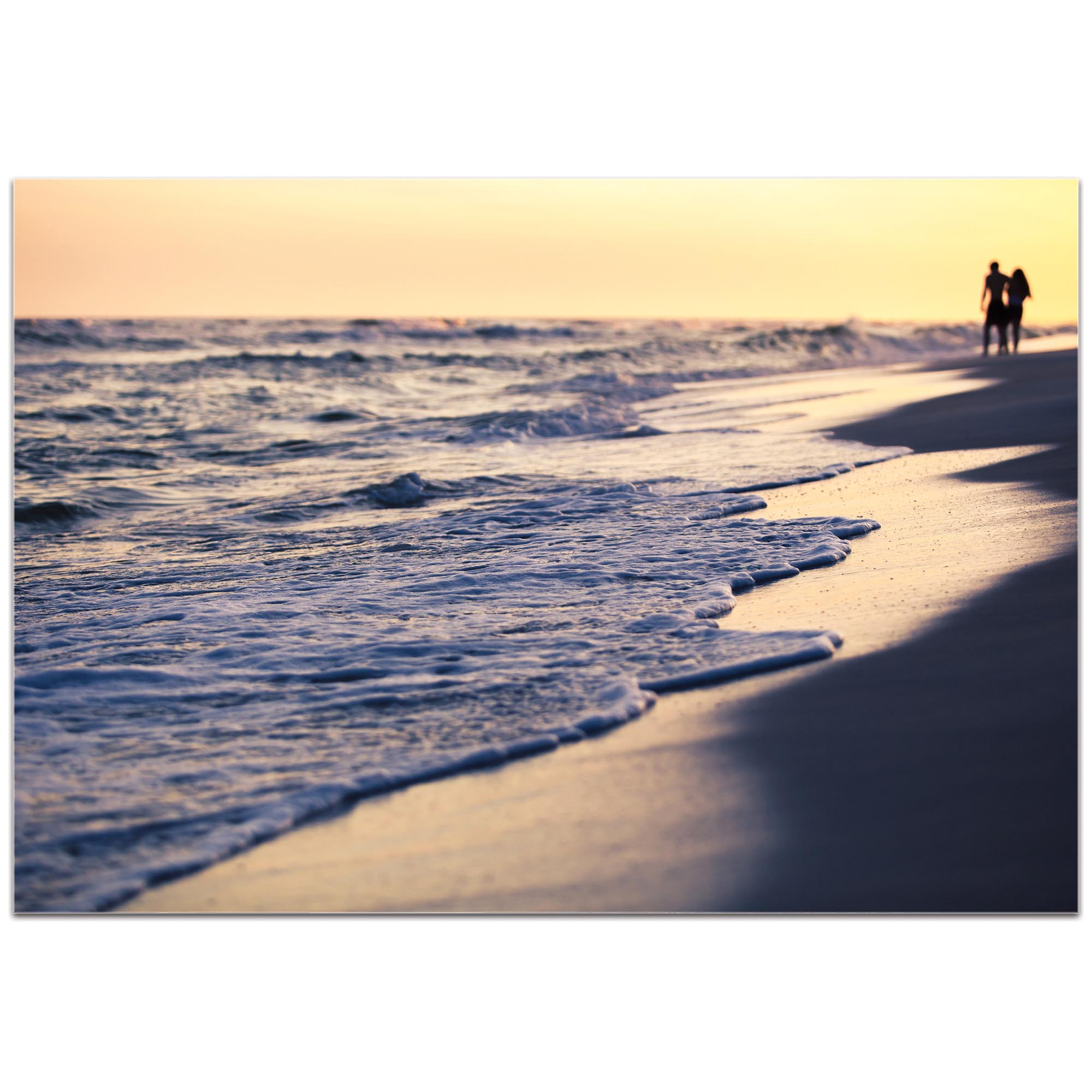 Coastal Wall Art 'Beach Stroll' - Beach Sunset Decor on Metal or Plexiglass - Image 2
