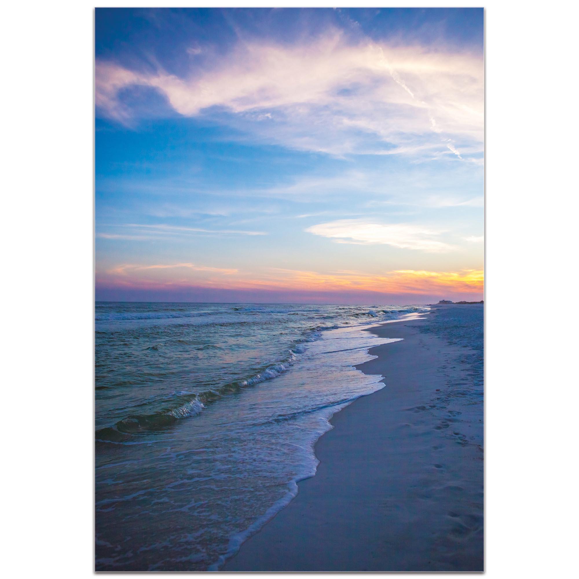 Coastal Wall Art 'Sunset Shores' - Romantic Sunset Decor on Metal or Plexiglass - Image 2