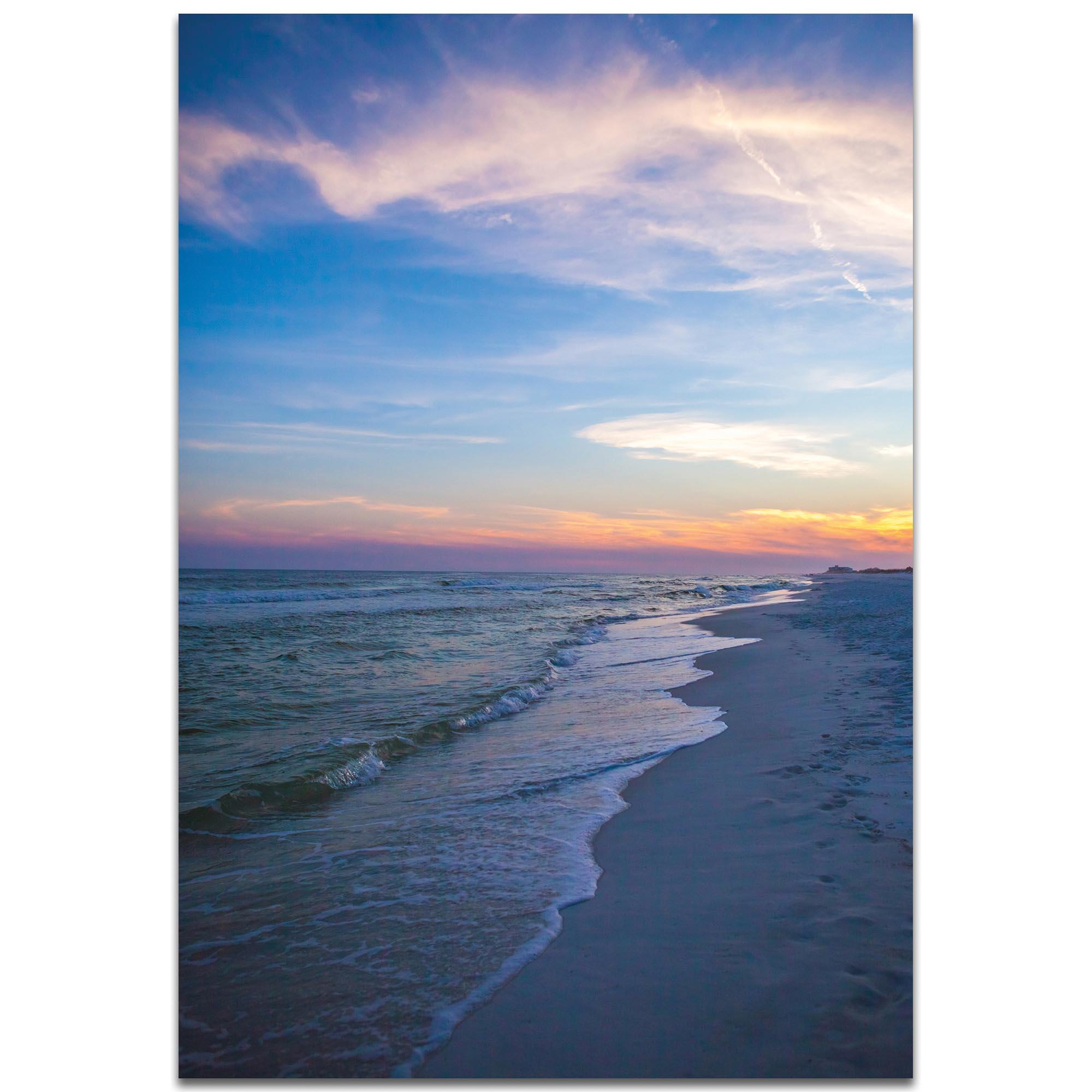 Coastal Wall Art 'Sunset Shores' - Romantic Sunset Decor on Metal or Plexiglass