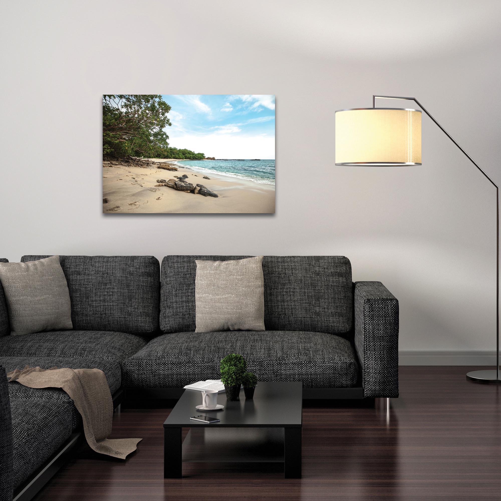 Coastal Wall Art 'Paradise Cove' - Beach Decor on Metal or Plexiglass - Lifestyle View