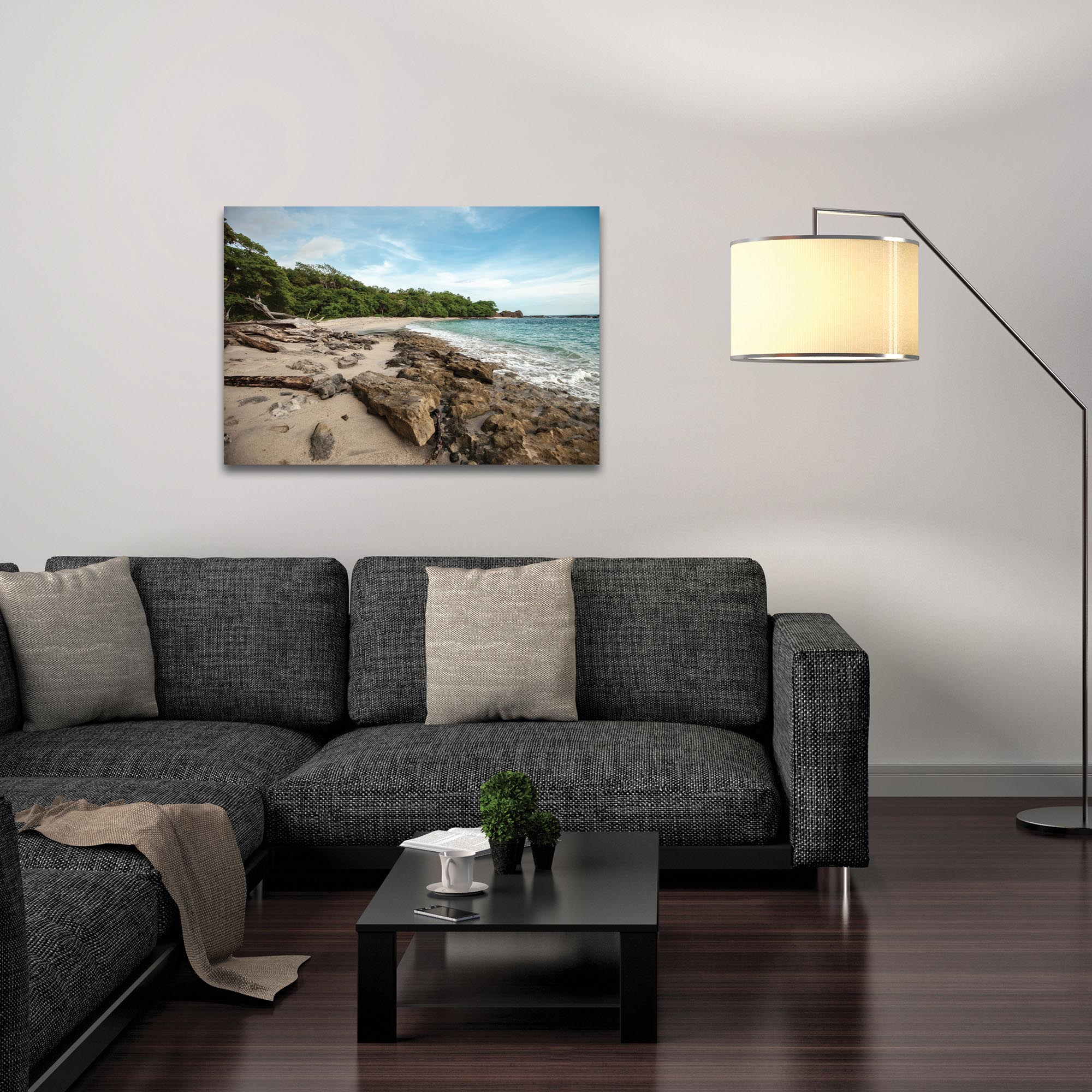 Coastal Wall Art 'Tropical Jungle' - Beach Decor on Metal or Plexiglass - Lifestyle View