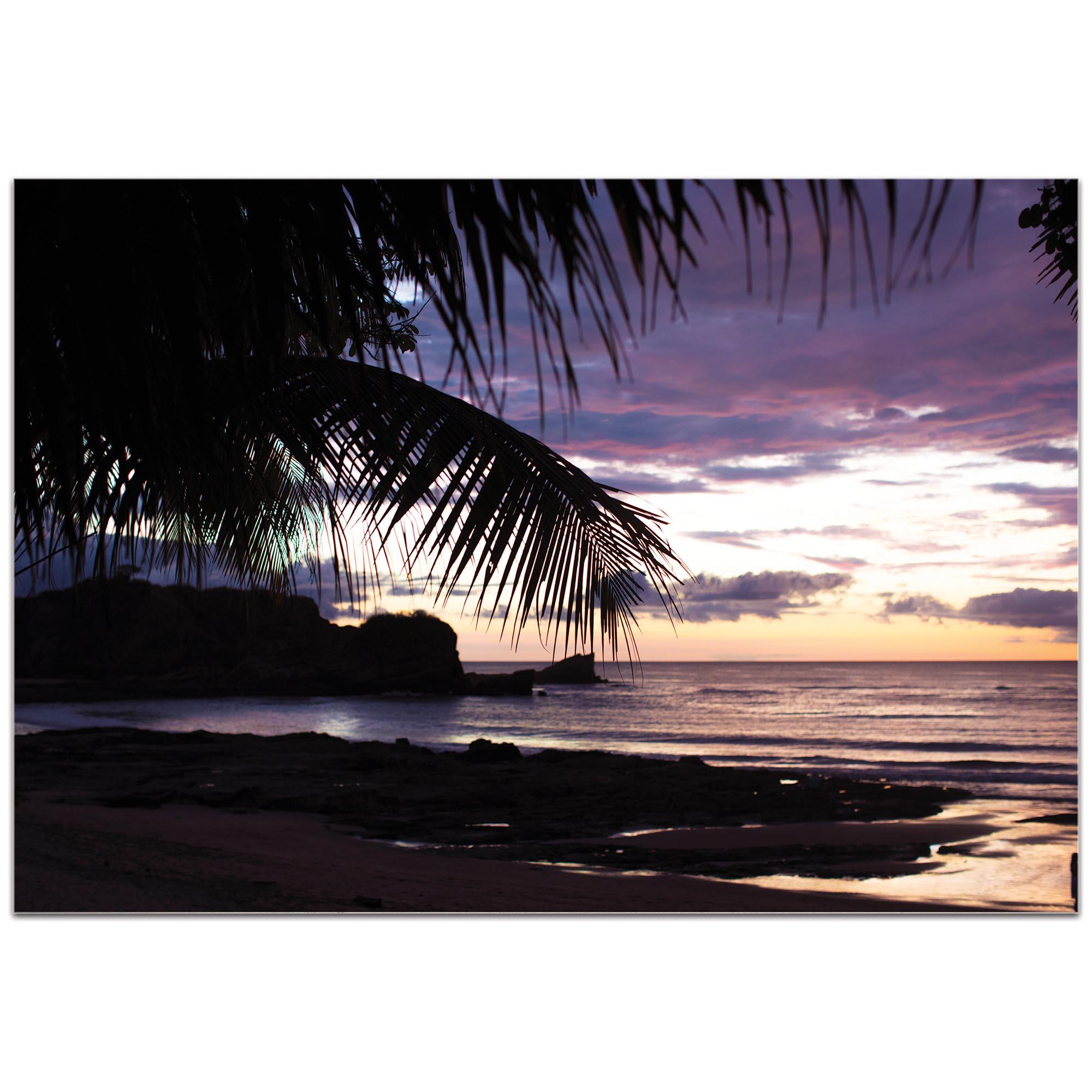 Coastal Wall Art 'Sunset Palms' - Beach Sunset Decor on Metal or Plexiglass - Image 2