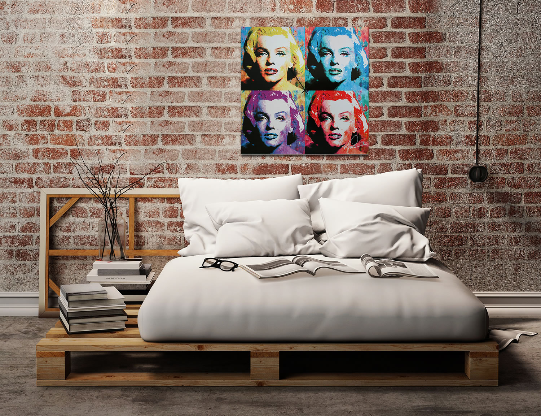Marilyn Monroe - Modern Metal Wall Art - Lifestyle Image