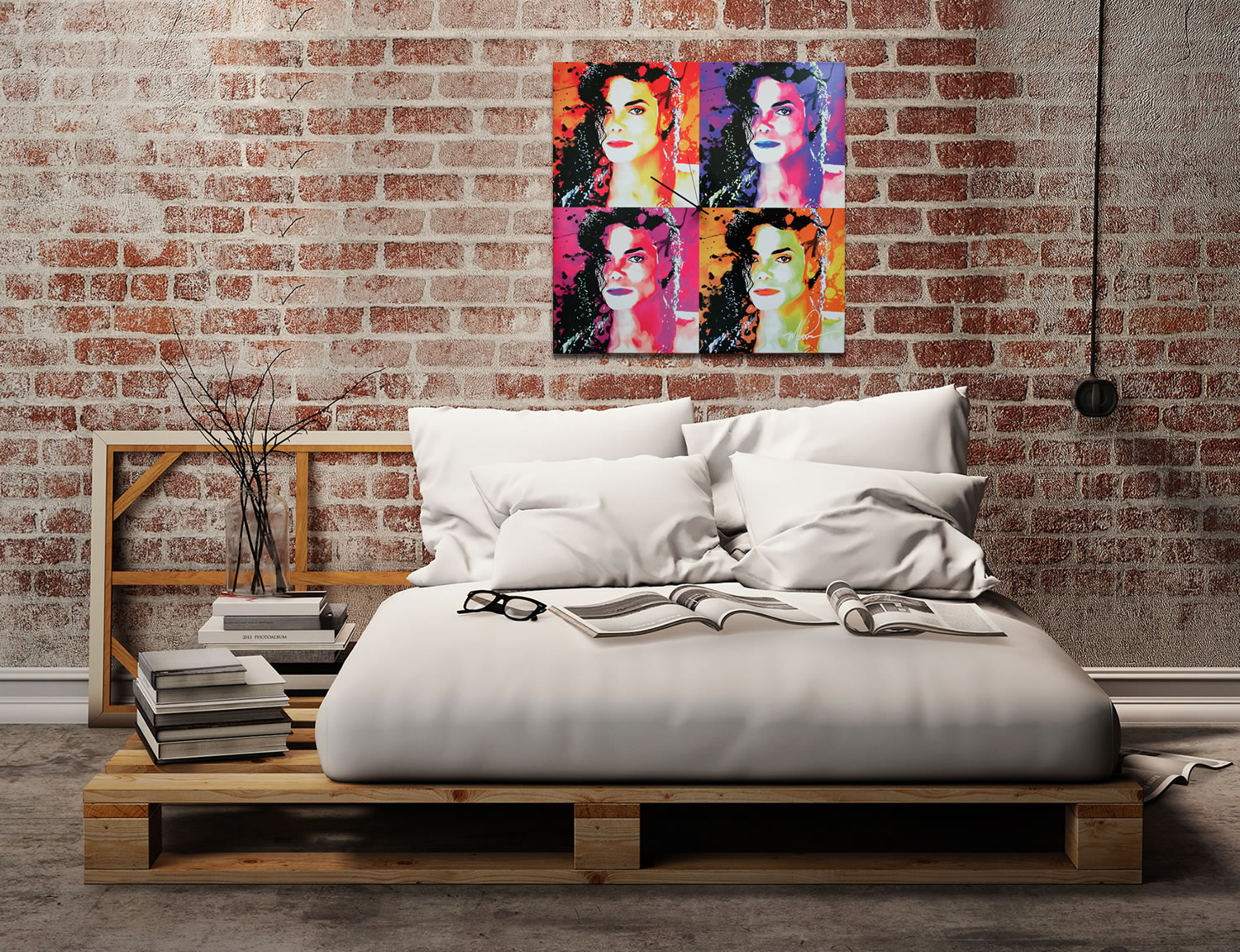 Michael Jackson - Modern Metal Wall Art - Lifestyle Image