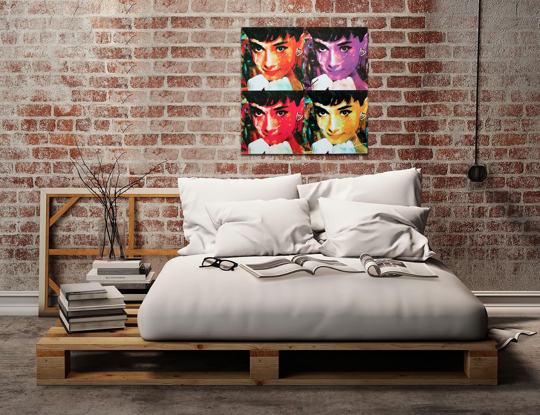 Audrey Hepburn - Modern Metal Wall Art - Lifestyle Image