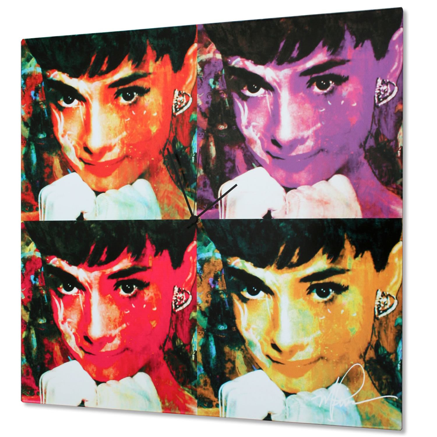 Audrey Hepburn - Pop Art Painting by Mark Lewis, giclee Print on Metal