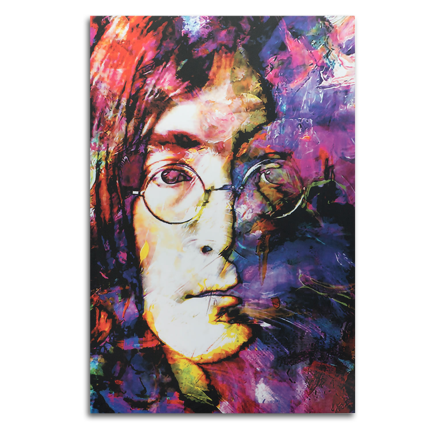 John Lennon Study 2 | Pop Art Beatles Painting by Mark Lewis, Signed & Numbered Limited Edition