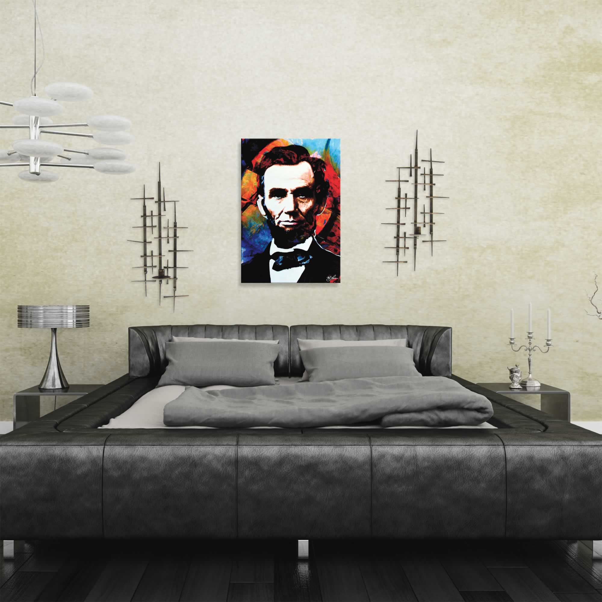 Abraham Lincoln Knowing Lincoln | Pop Art Painting by Mark Lewis, Signed & Numbered Limited Edition - ML0005