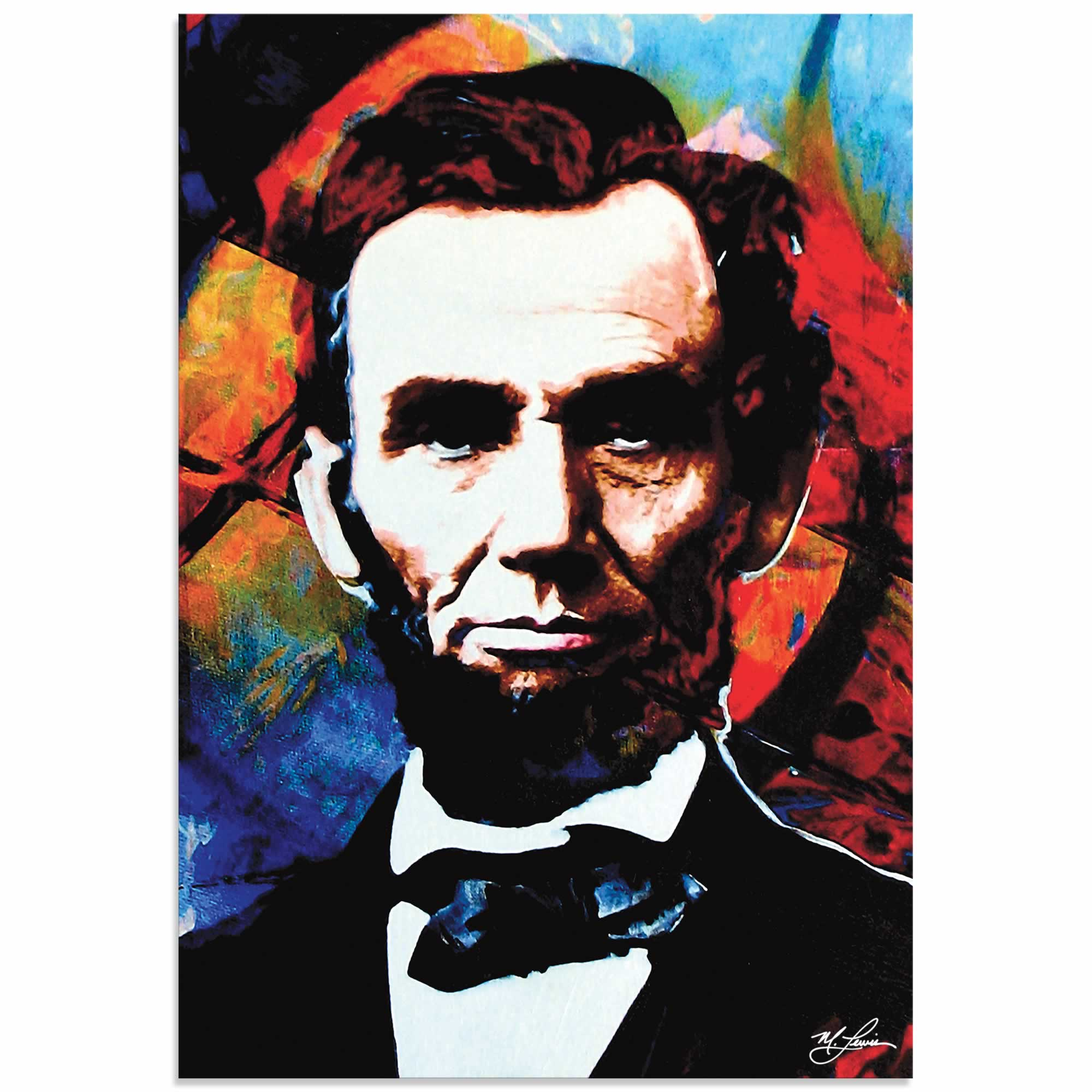 Abraham Lincoln Knowing Lincoln | Pop Art Painting by Mark Lewis, Signed & Numbered Limited Edition