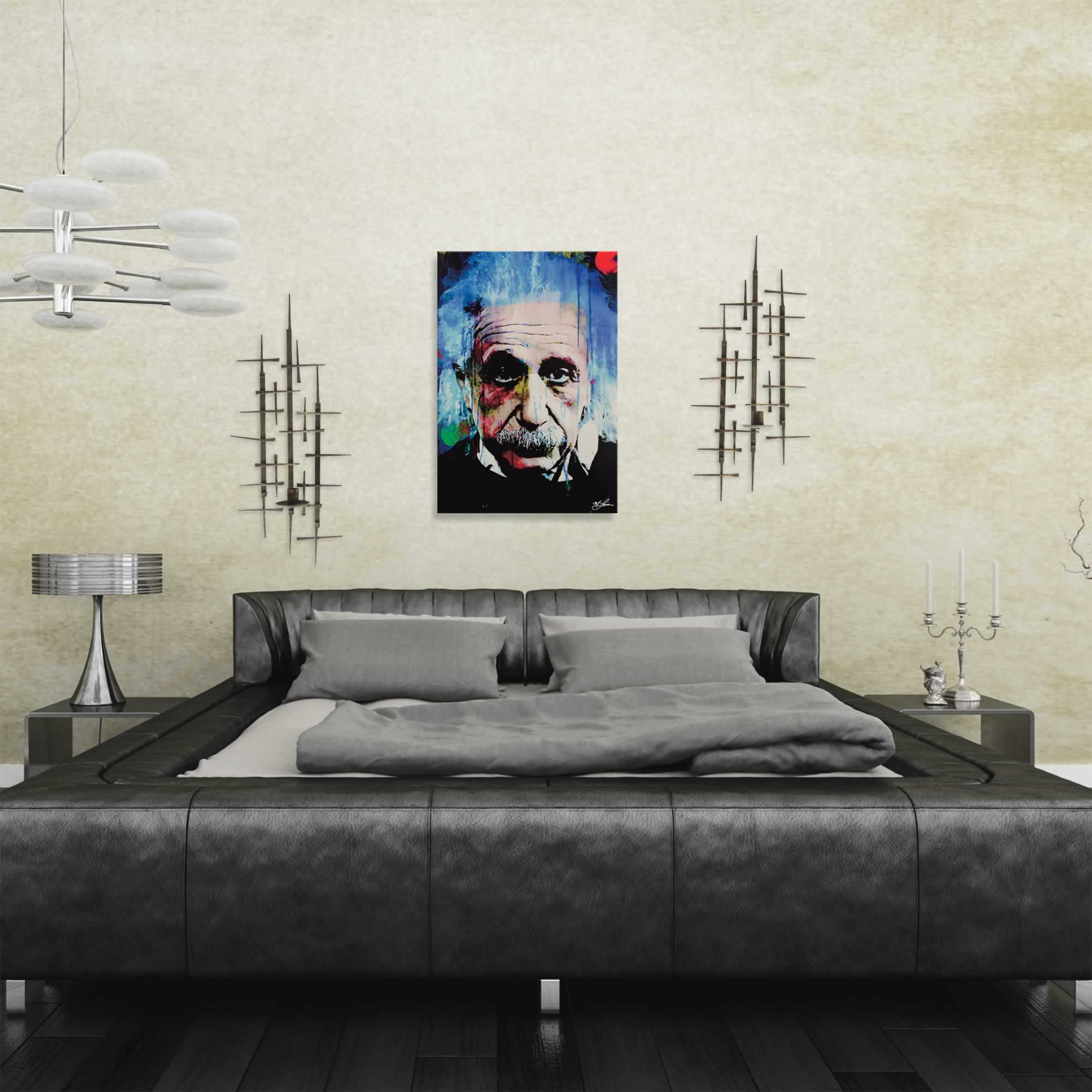 Albert Einstein Questioning Tomorrow | Pop Art Painting by Mark Lewis, Signed & Numbered Limited Edition - ML0006