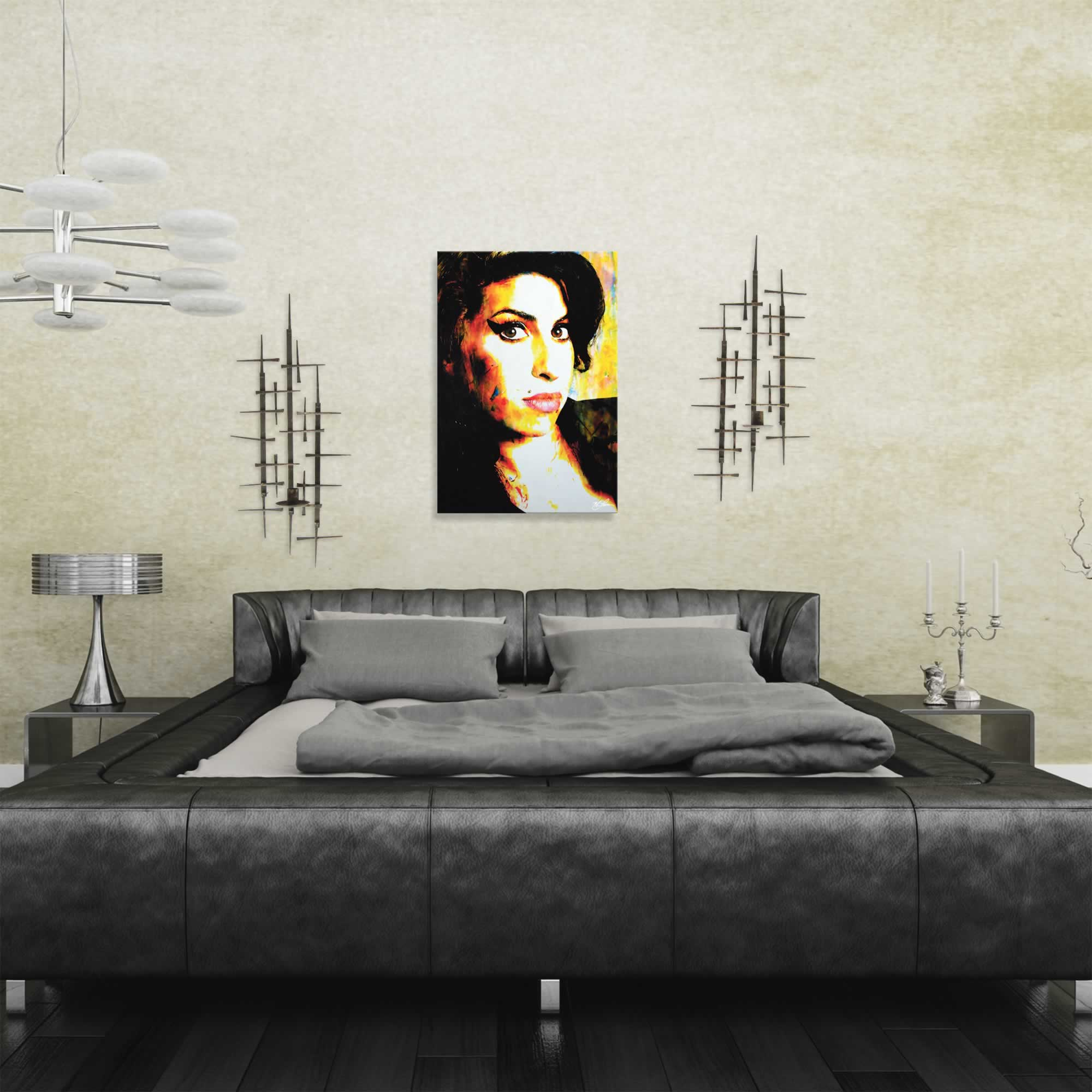 Amy Winehouse A School of Thought | Pop Art Painting by Mark Lewis, Signed & Numbered Limited Edition - ML0007