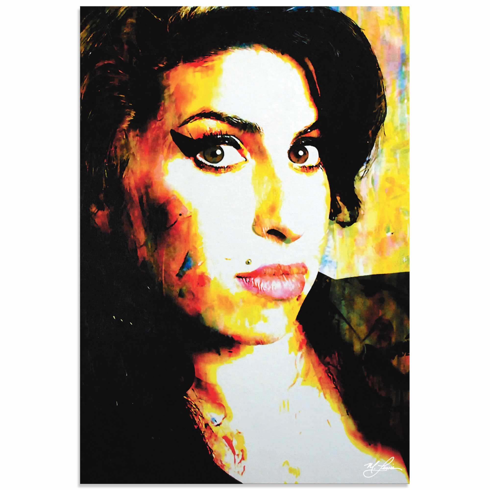 Amy Winehouse A School of Thought | Pop Art Painting by Mark Lewis, Signed & Numbered Limited Edition