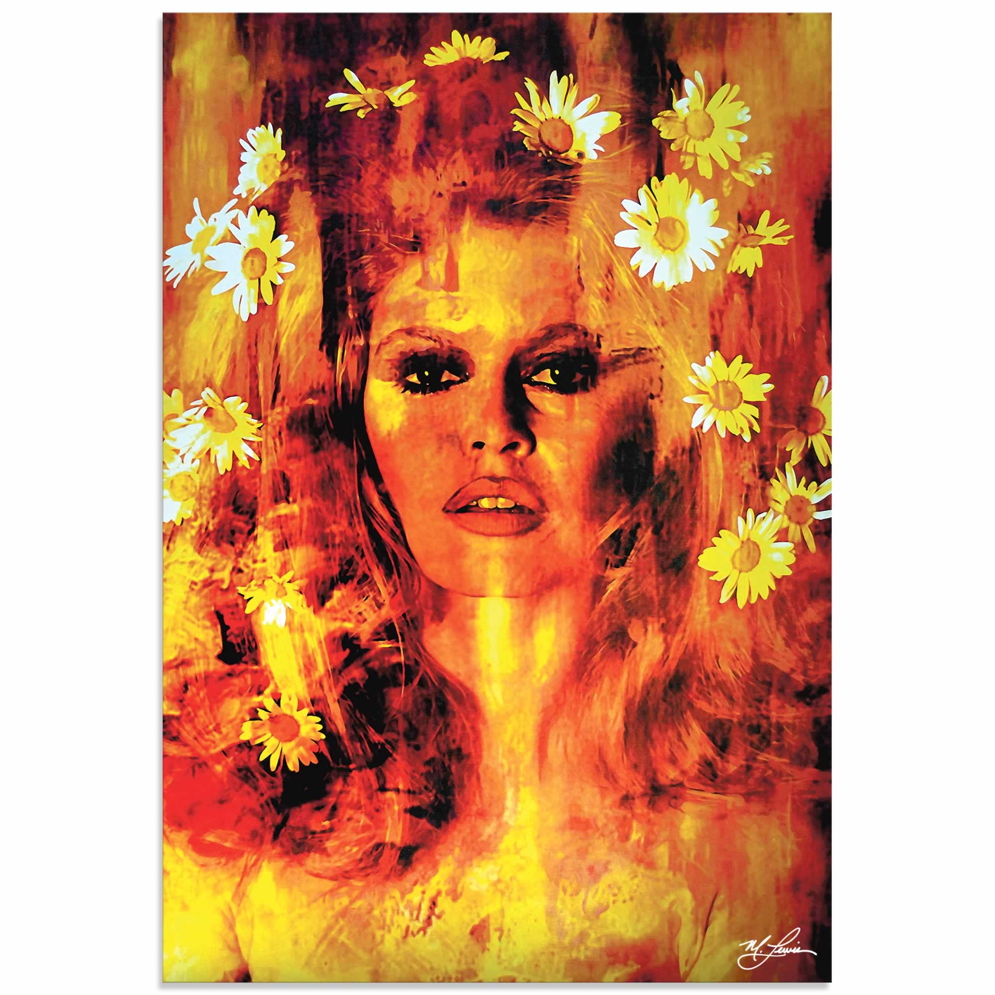 Bridget Bardot Life Captured | Pop Art Painting by Mark Lewis, Signed & Numbered Limited Edition