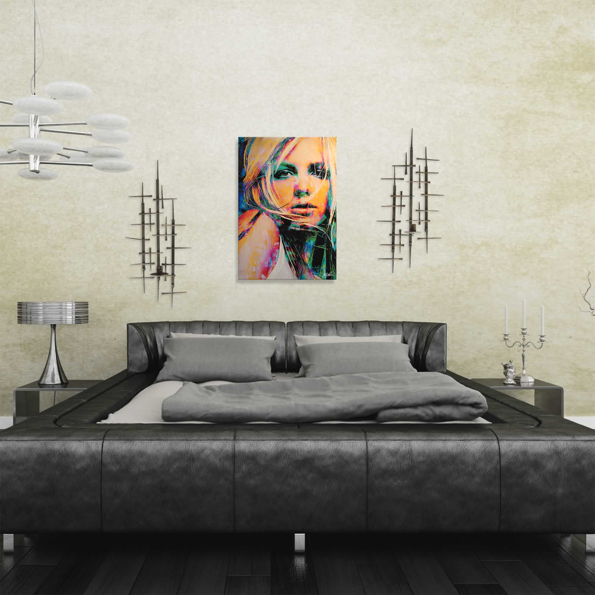 Mark Lewis 'Britney Spears Snow Blind' Limited Edition Pop Art Print on Metal or Acrylic - Alternate View 1