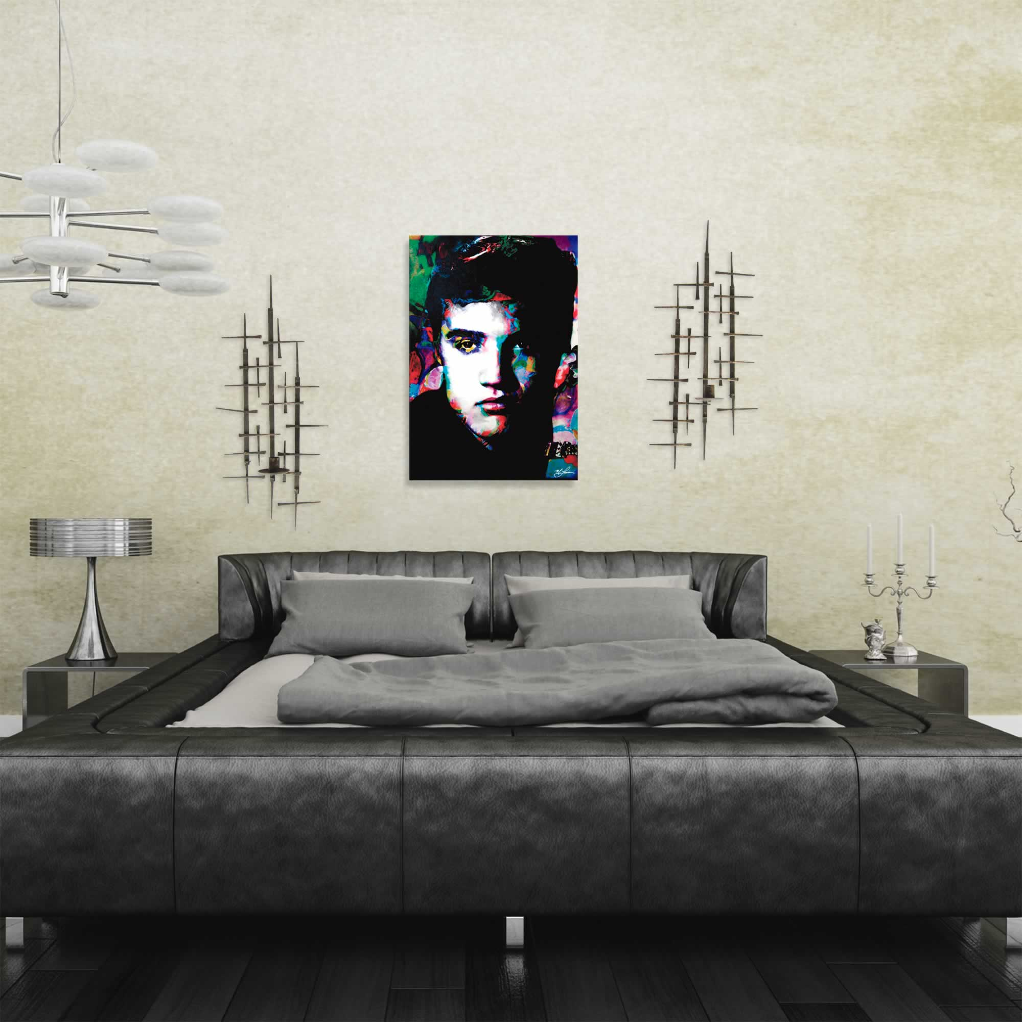 Mark Lewis 'Elvis Presley Electric Ambition' Limited Edition Pop Art Print on Metal or Acrylic - Alternate View 1