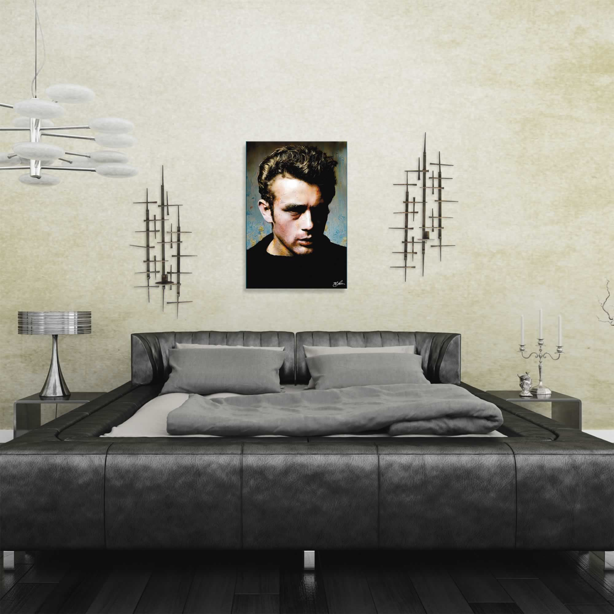 Mark Lewis 'James Dean Gentle Trust' Limited Edition Pop Art Print on Metal or Acrylic - Alternate View 1