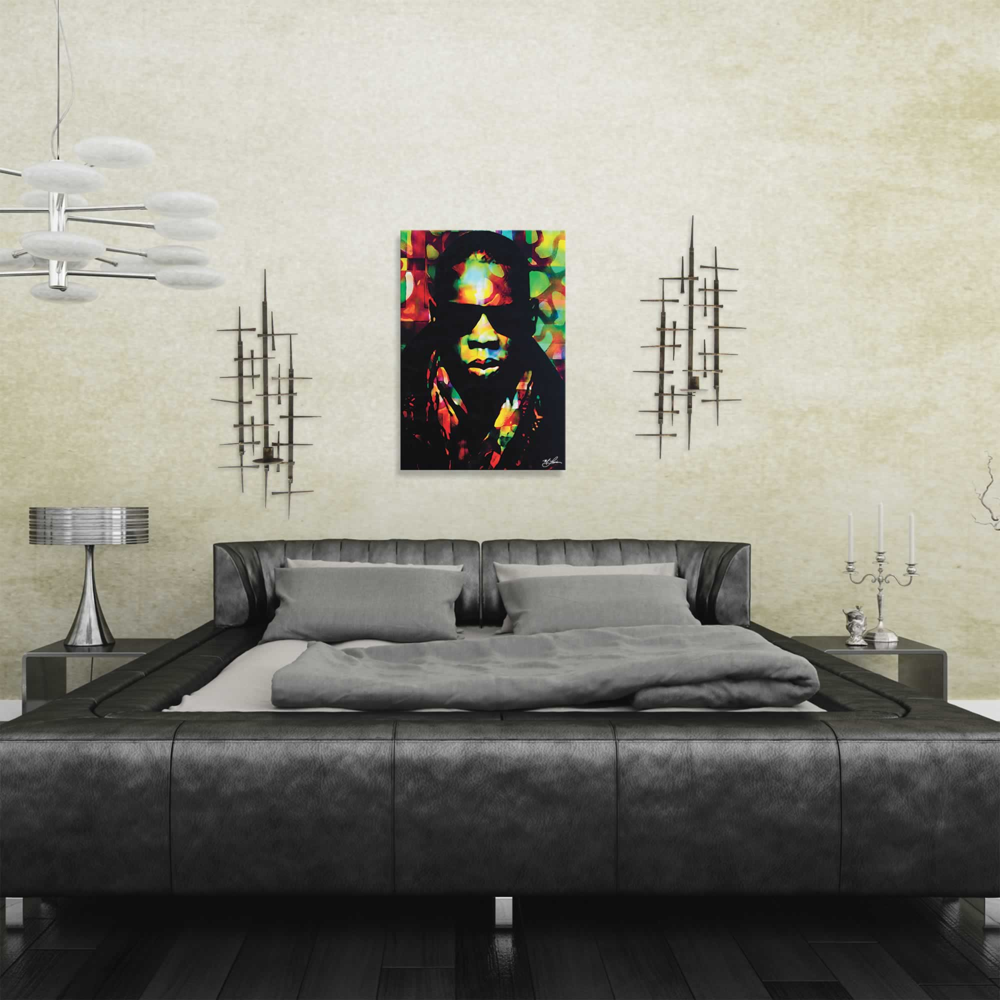 Mark Lewis 'Jay Z Color of a CEO' Limited Edition Pop Art Print on Metal or Acrylic - Alternate View 1