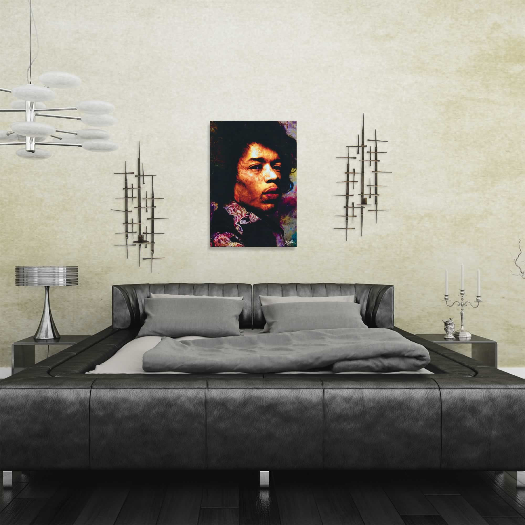 Jimi Hendrix Imagination Key | Pop Art Painting by Mark Lewis, Signed & Numbered Limited Edition - ML0017