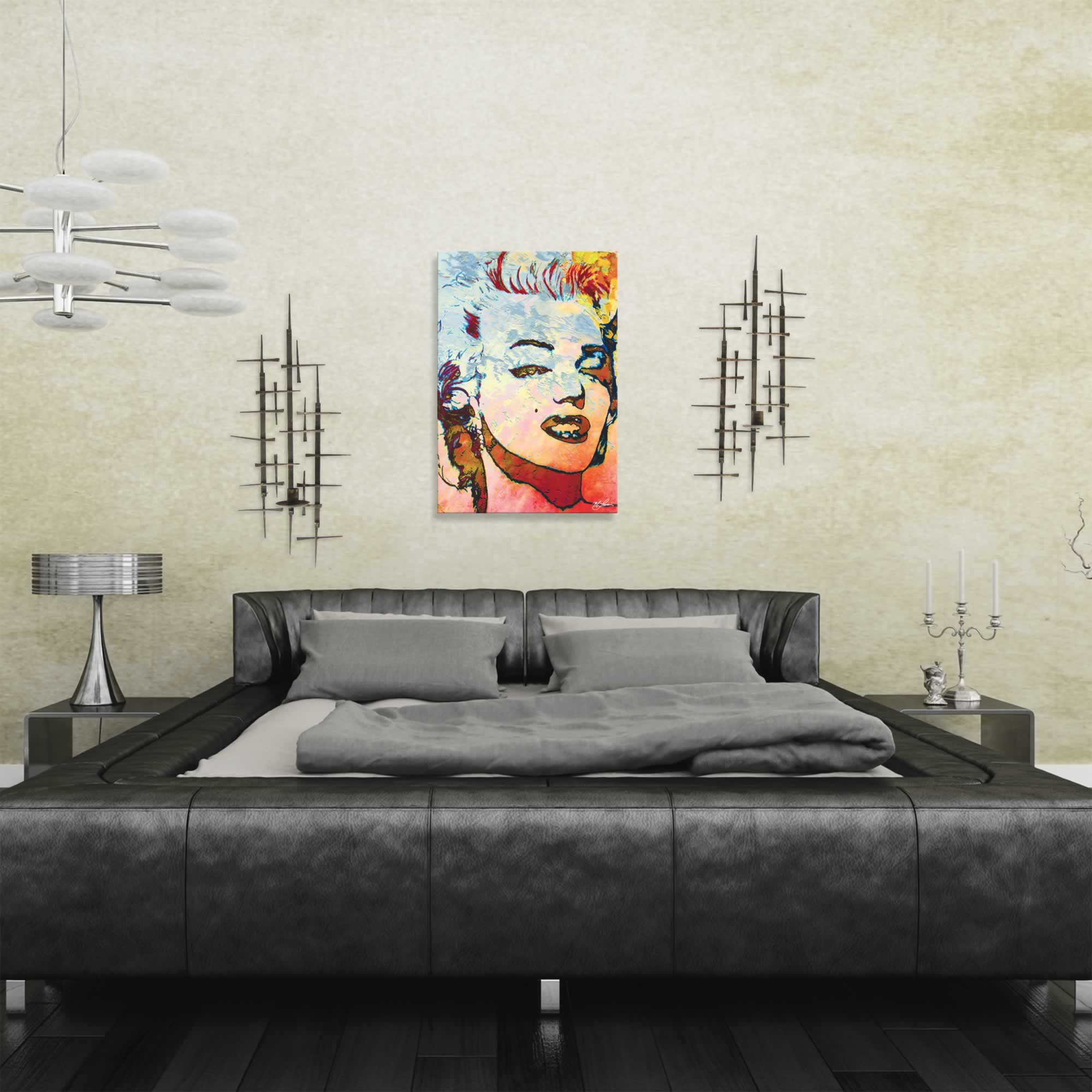 Mark Lewis 'Marilyn Monroe Red' Limited Edition Pop Art Print on Metal or Acrylic - Alternate View 1