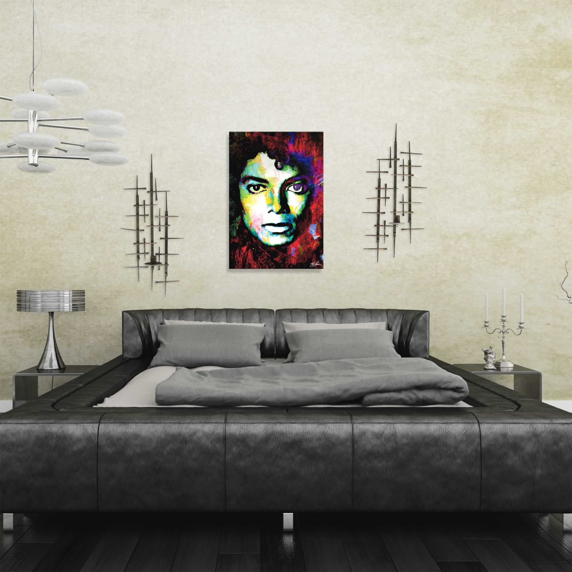 Michael Jackson Study 1 by Mark Lewis - Celebrity Pop Art on Metal or Plexiglass - ML0029