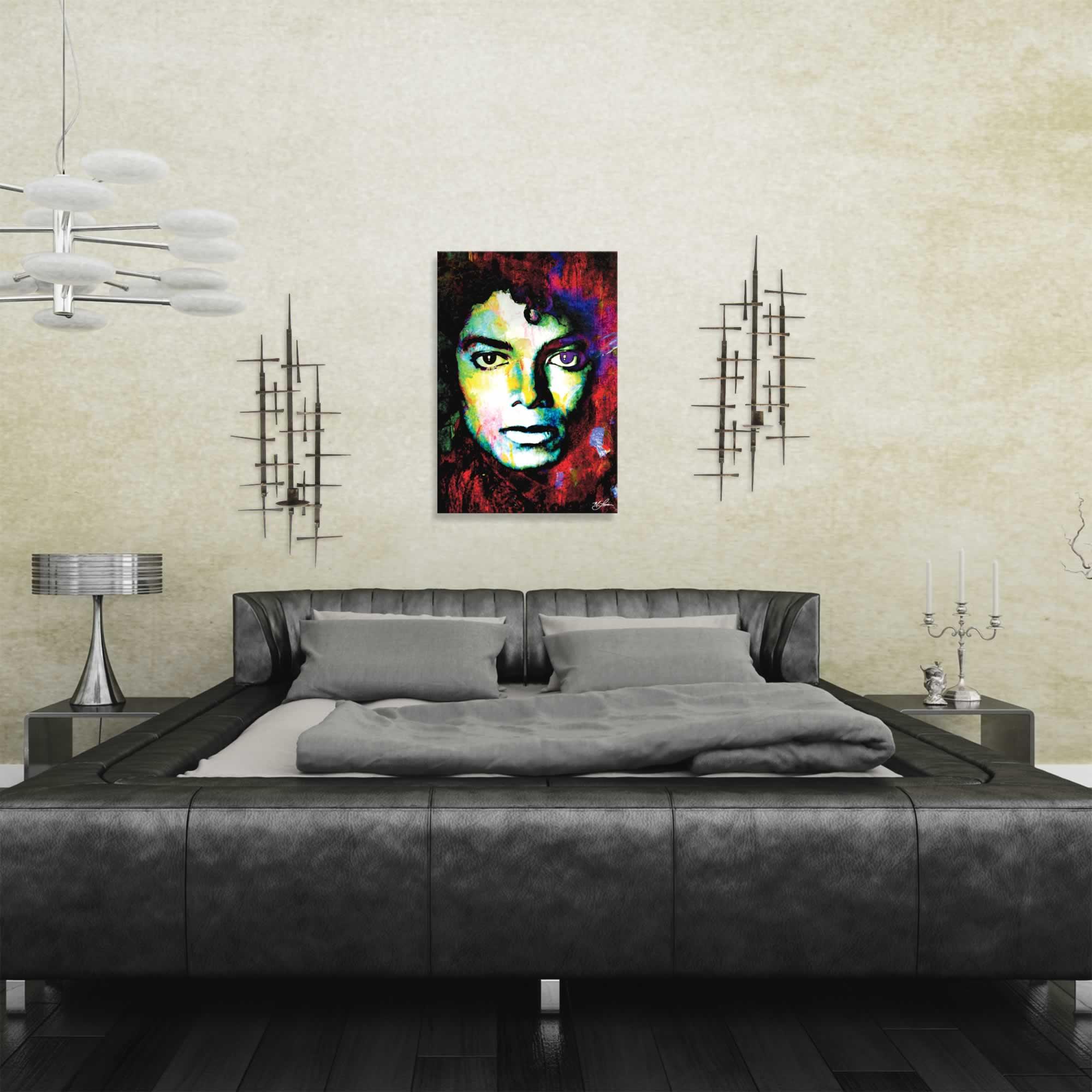 Michael Jackson Study 1 by Mark Lewis - Celebrity Pop Art on Metal or Plexiglass - ML0029