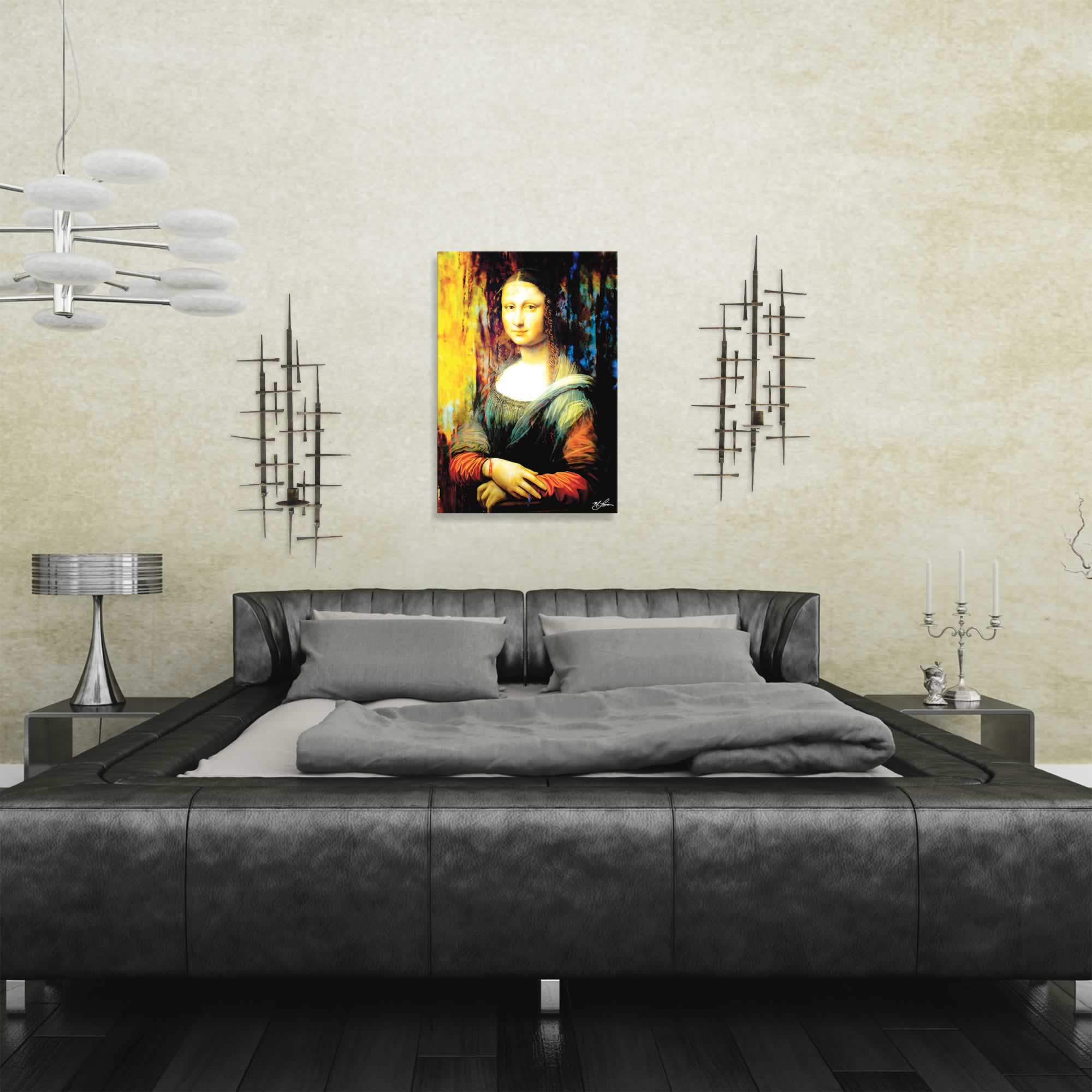 Mona Lisa Ageless Charm | Pop Art Painting by Mark Lewis, Signed & Numbered Limited Edition - ML0030