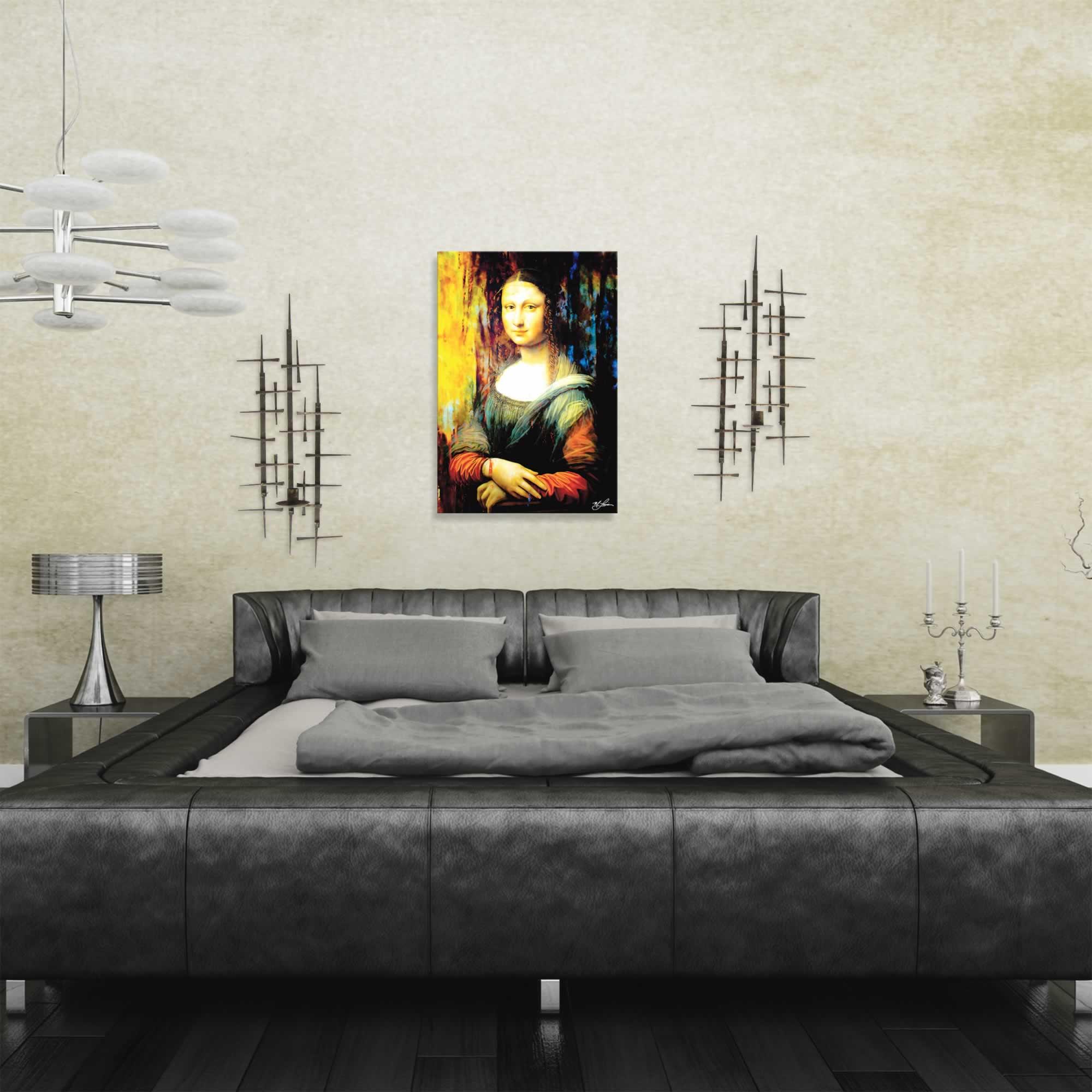 Mark Lewis 'Mona Lisa Ageless Charm' Limited Edition Pop Art Print on Metal or Acrylic - Alternate View 1