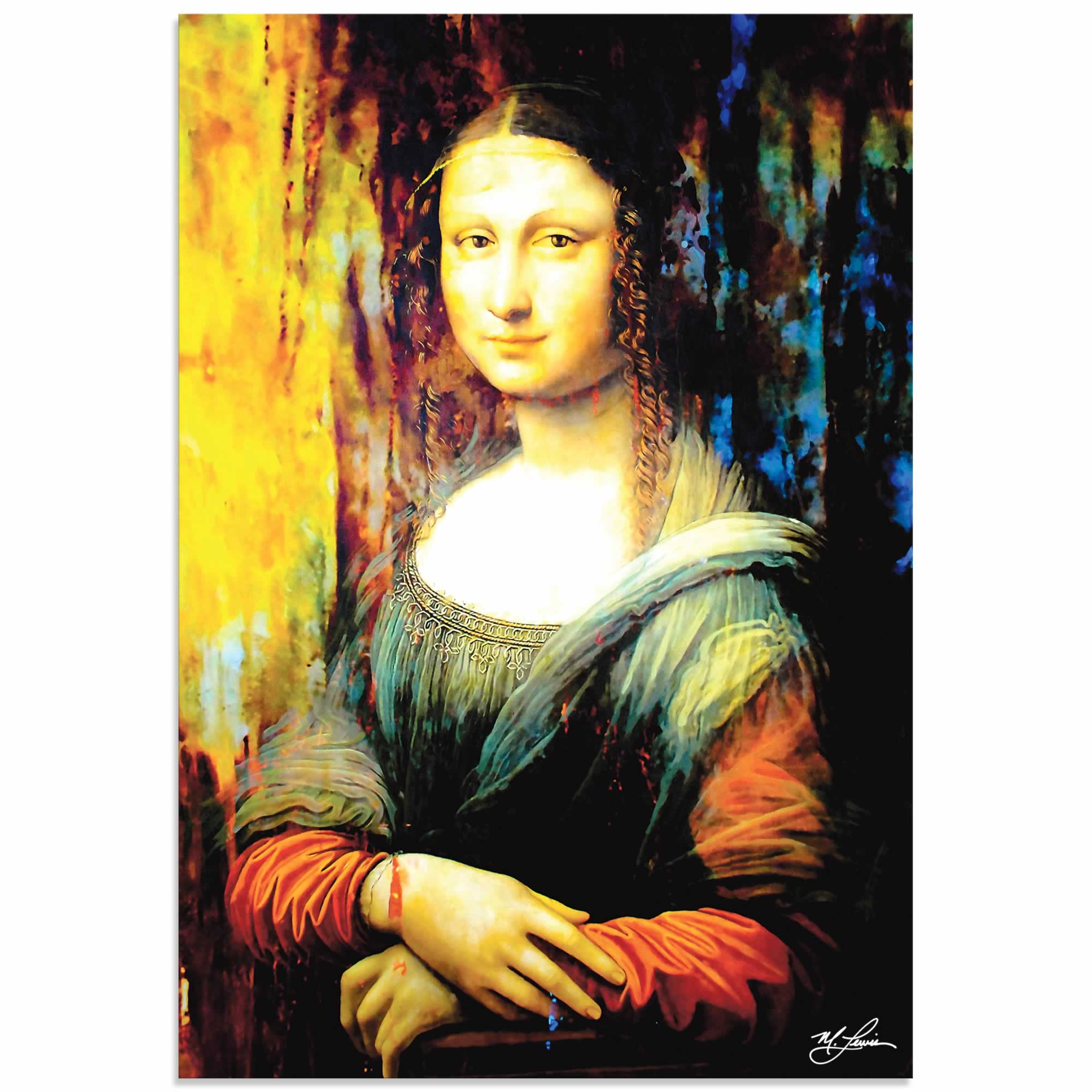 Mona Lisa Ageless Charm | Pop Art Painting by Mark Lewis, Signed & Numbered Limited Edition