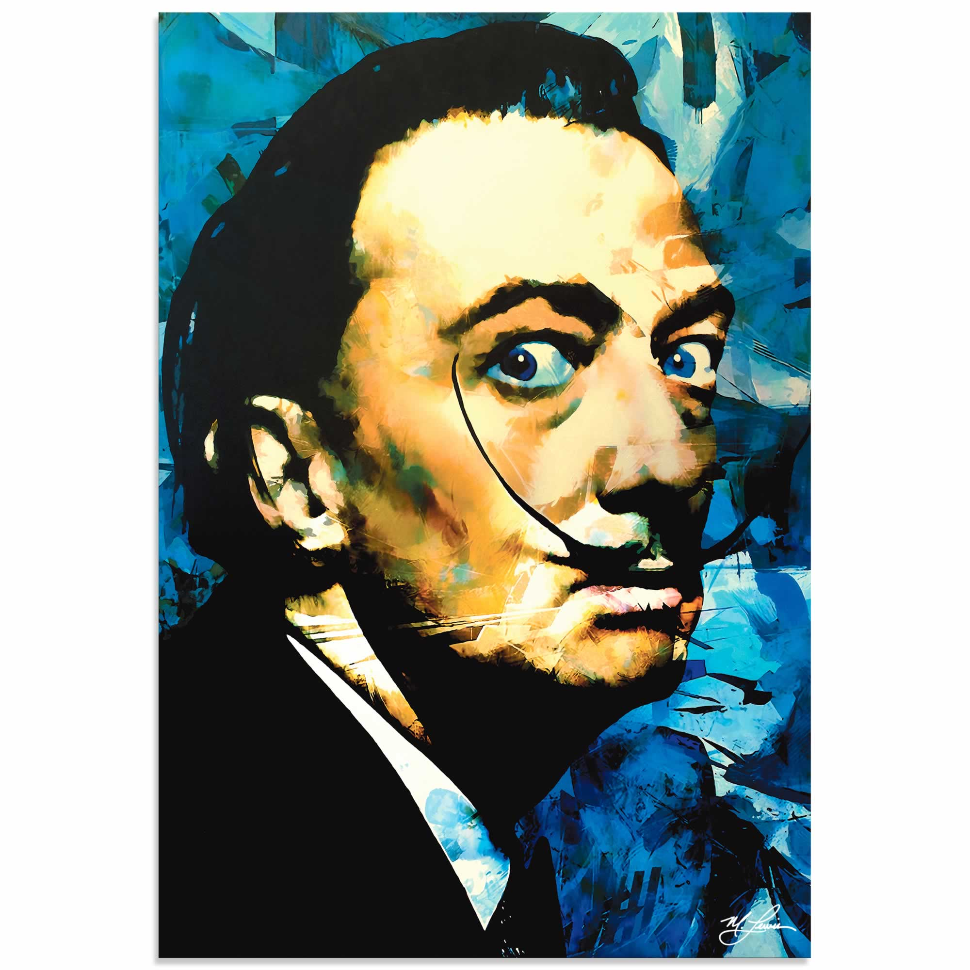 Salvador Dali Apparatus Man | Pop Art Painting by Mark Lewis, Signed & Numbered Limited Edition