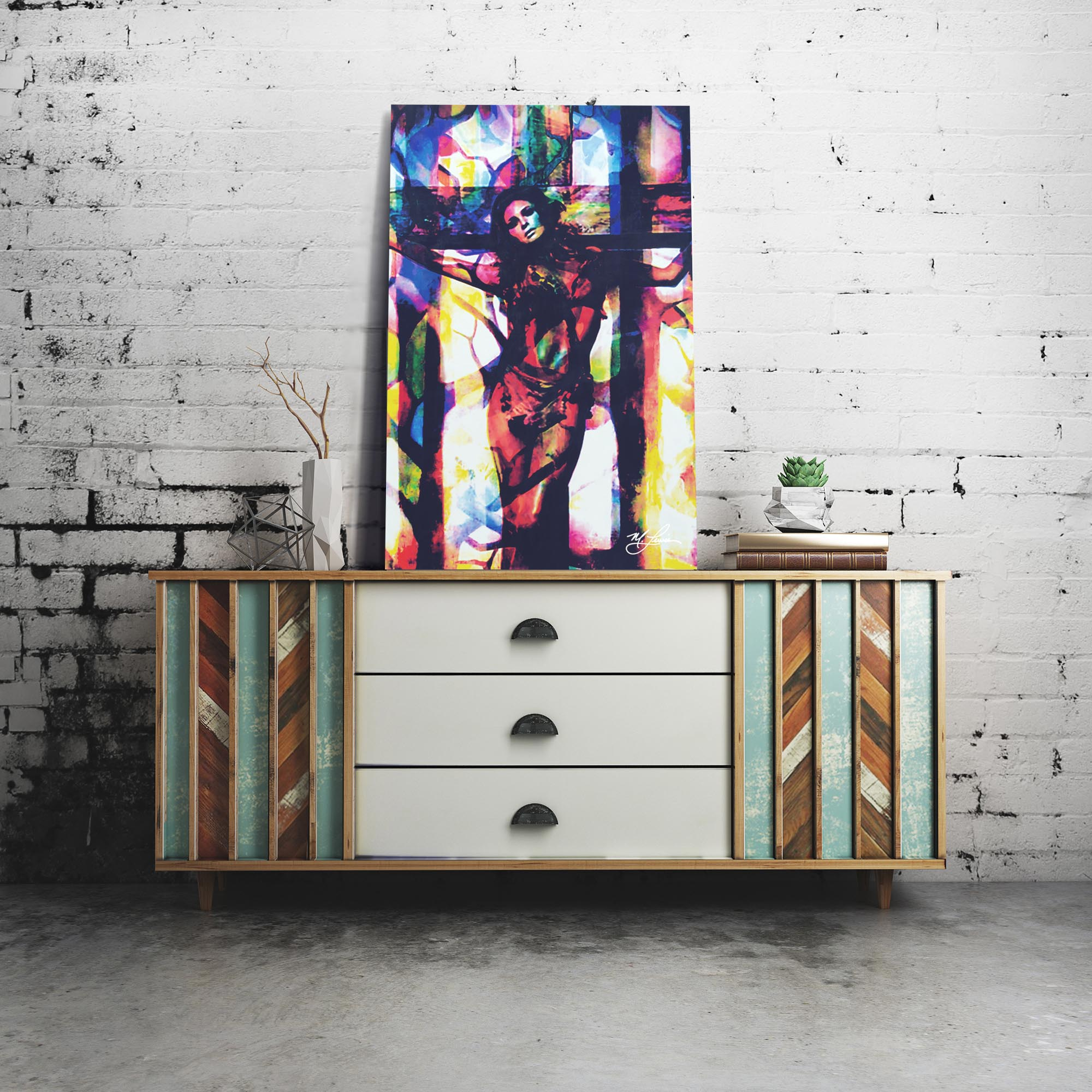 Raquel Welch Convicted Silk by Mark Lewis - Celebrity Pop Art on Metal or Plexiglass - ML0036